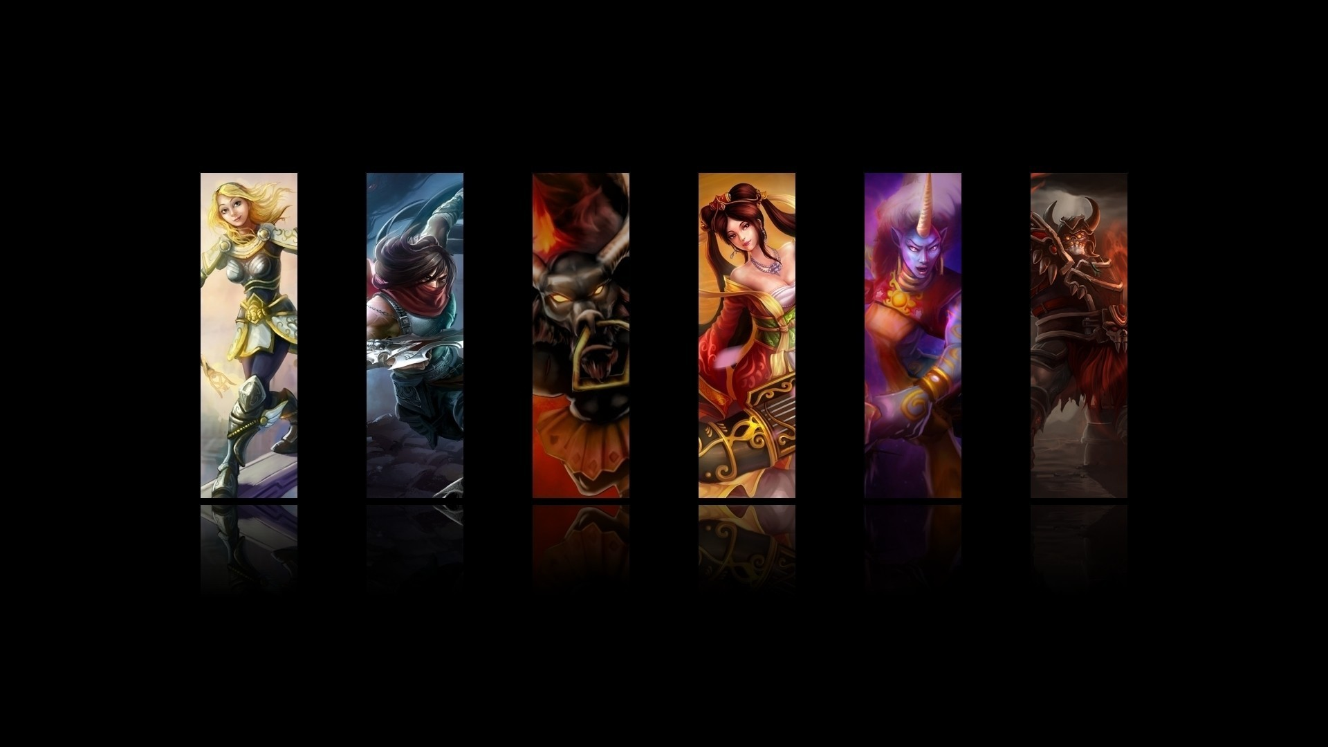 Legends Lux Sion The Undead Champion Sona Wallpaper League