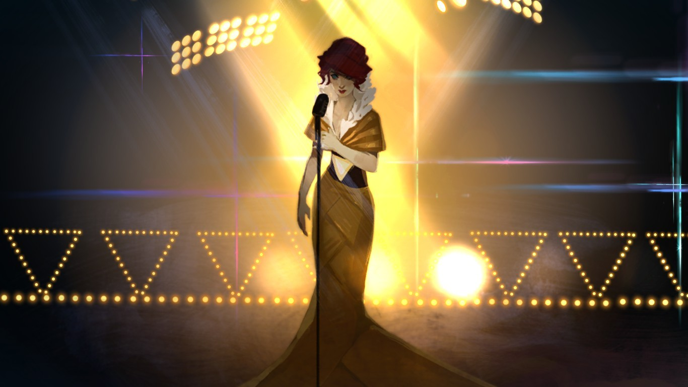 #red , #transistors, #yellow, #shadow, #red, #black, - Transistor Red Dress , HD Wallpaper & Backgrounds