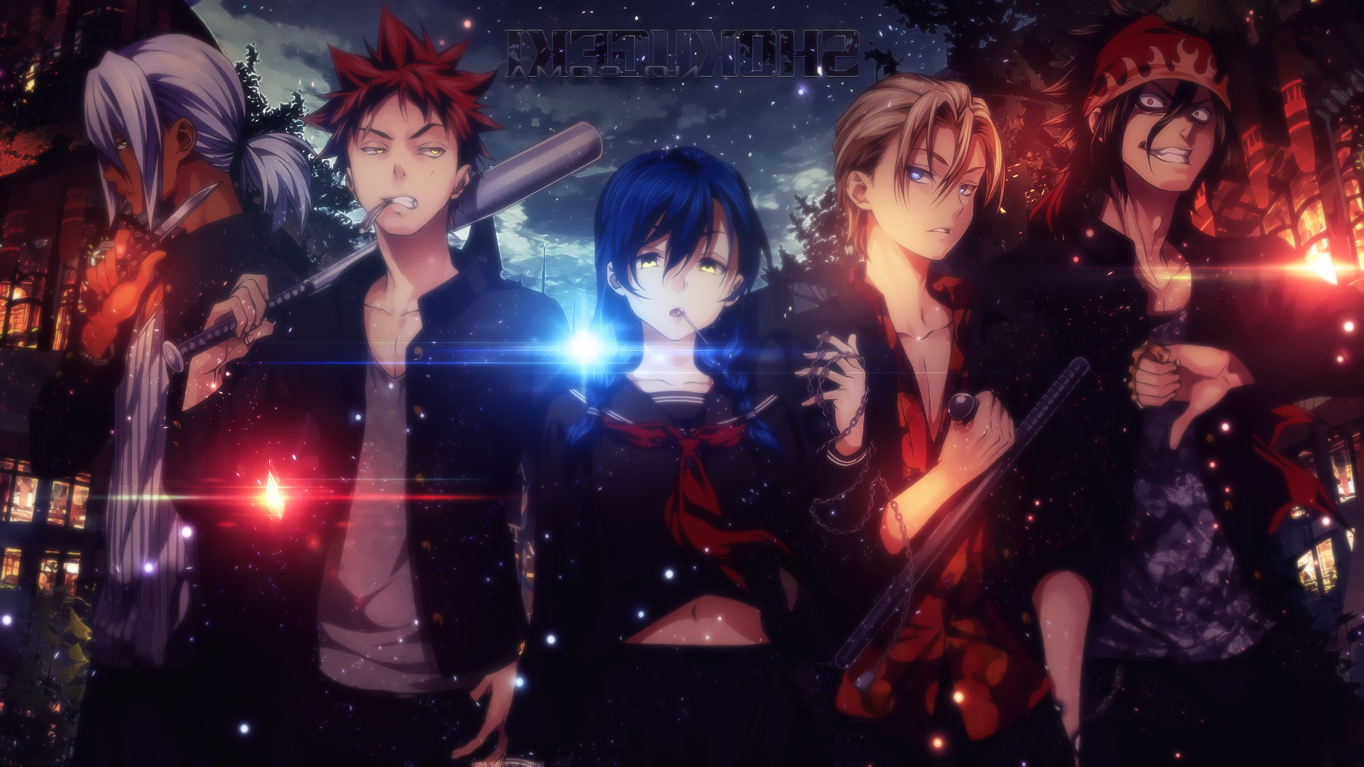 Anime, Hayama Akira, Kurokiba Ryo, Tadokoro Megumi, - Shokugeki No Soma Ryo Kurokiba , HD Wallpaper & Backgrounds