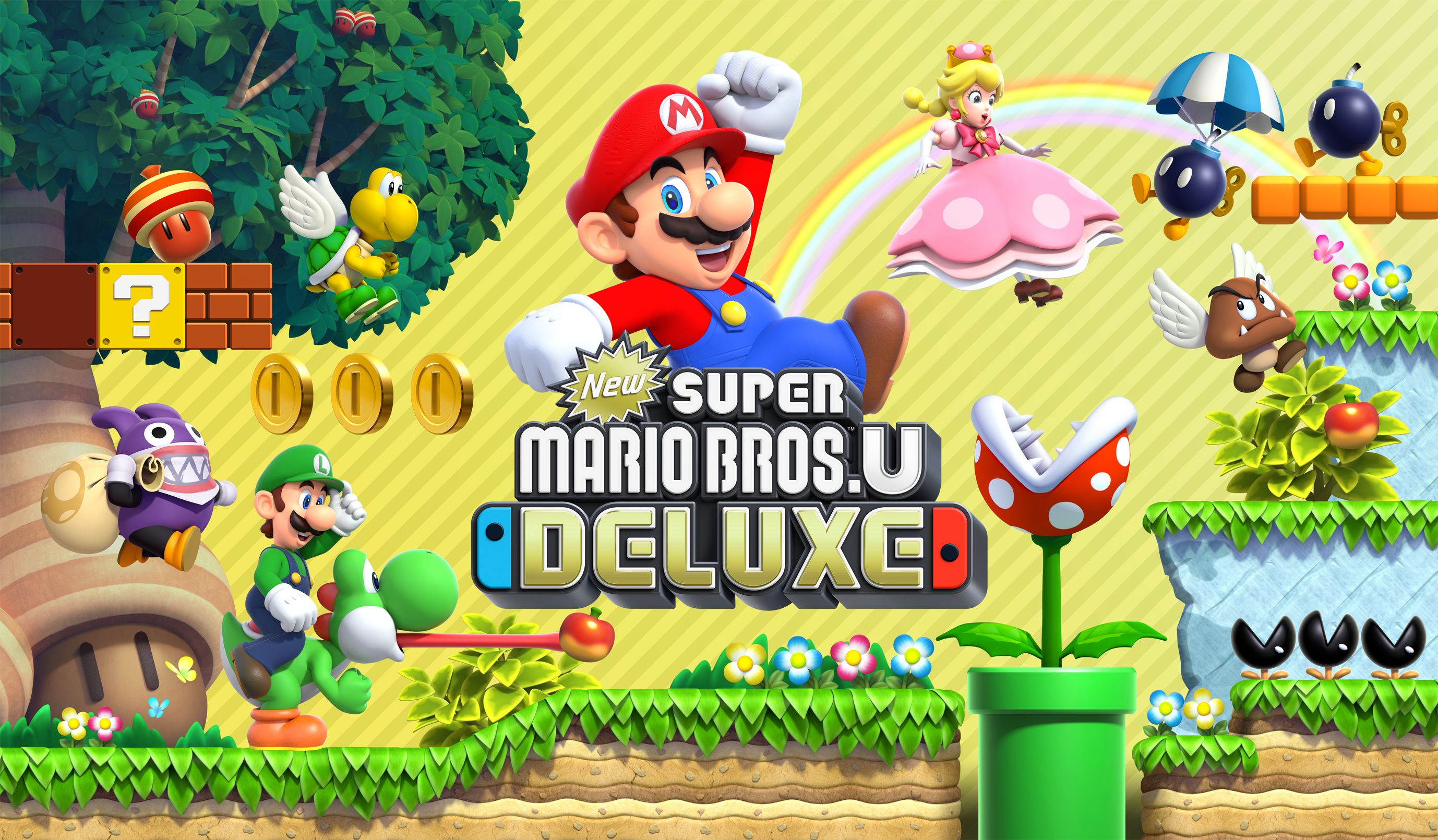 Goomba Luigi Piranha Plant Peachette Mario Nabbit Super