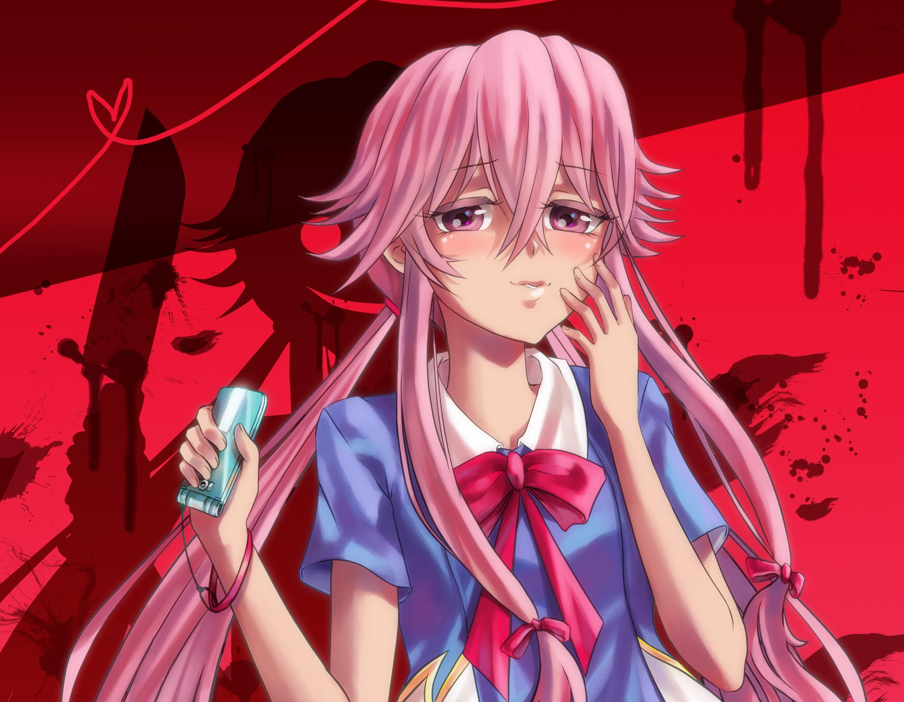 Yuno Gasai Mirai Nikki Yuno Art 216275 Hd Wallpaper