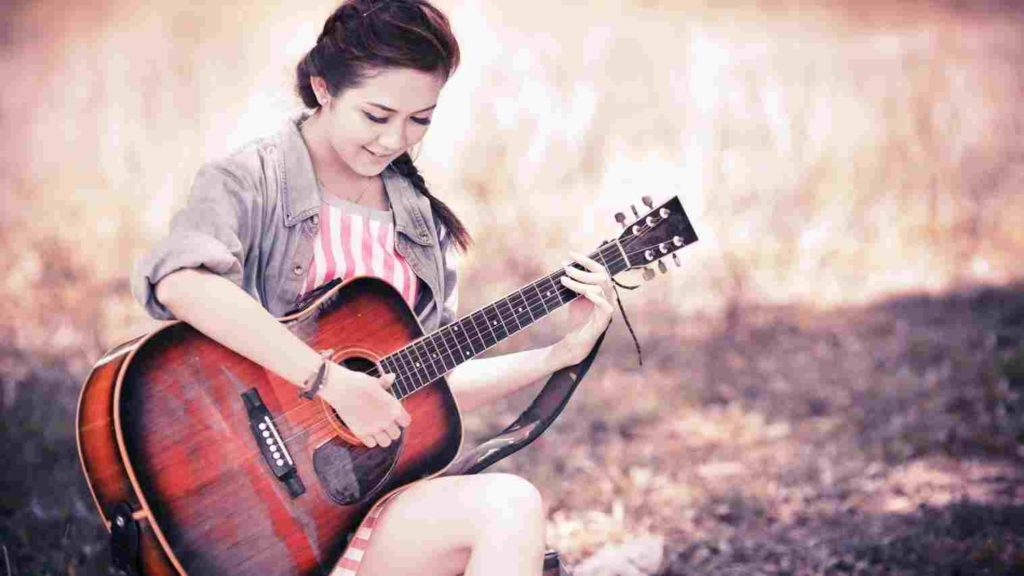 Attitude Profile Pictures For Boys & Girls For Facebook - Beautiful Girl In Guitar , HD Wallpaper & Backgrounds