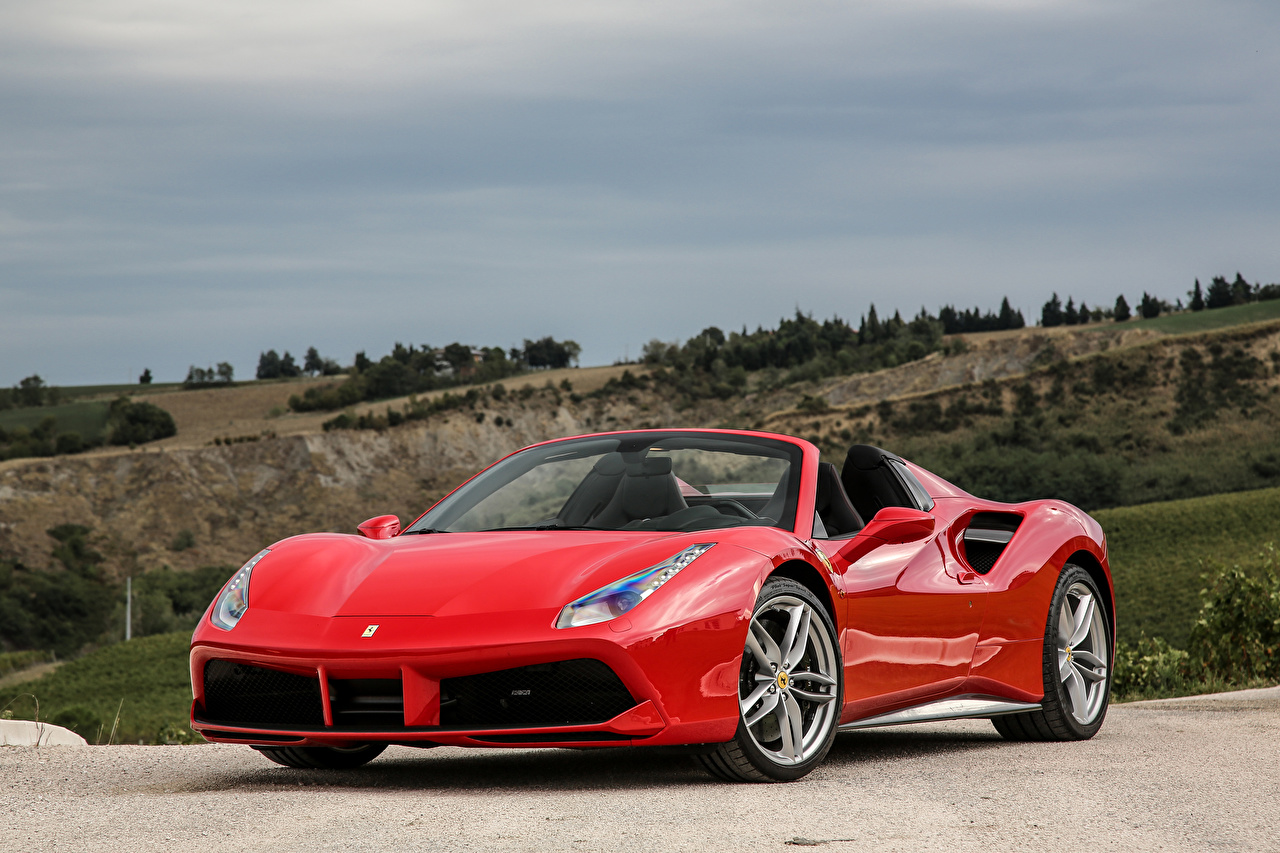Red Ferrari 488 Spider Wallpaper