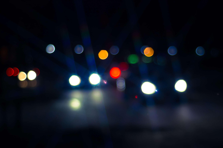 Blurred Bokeh Dark Lights Night Wallpaper And Background