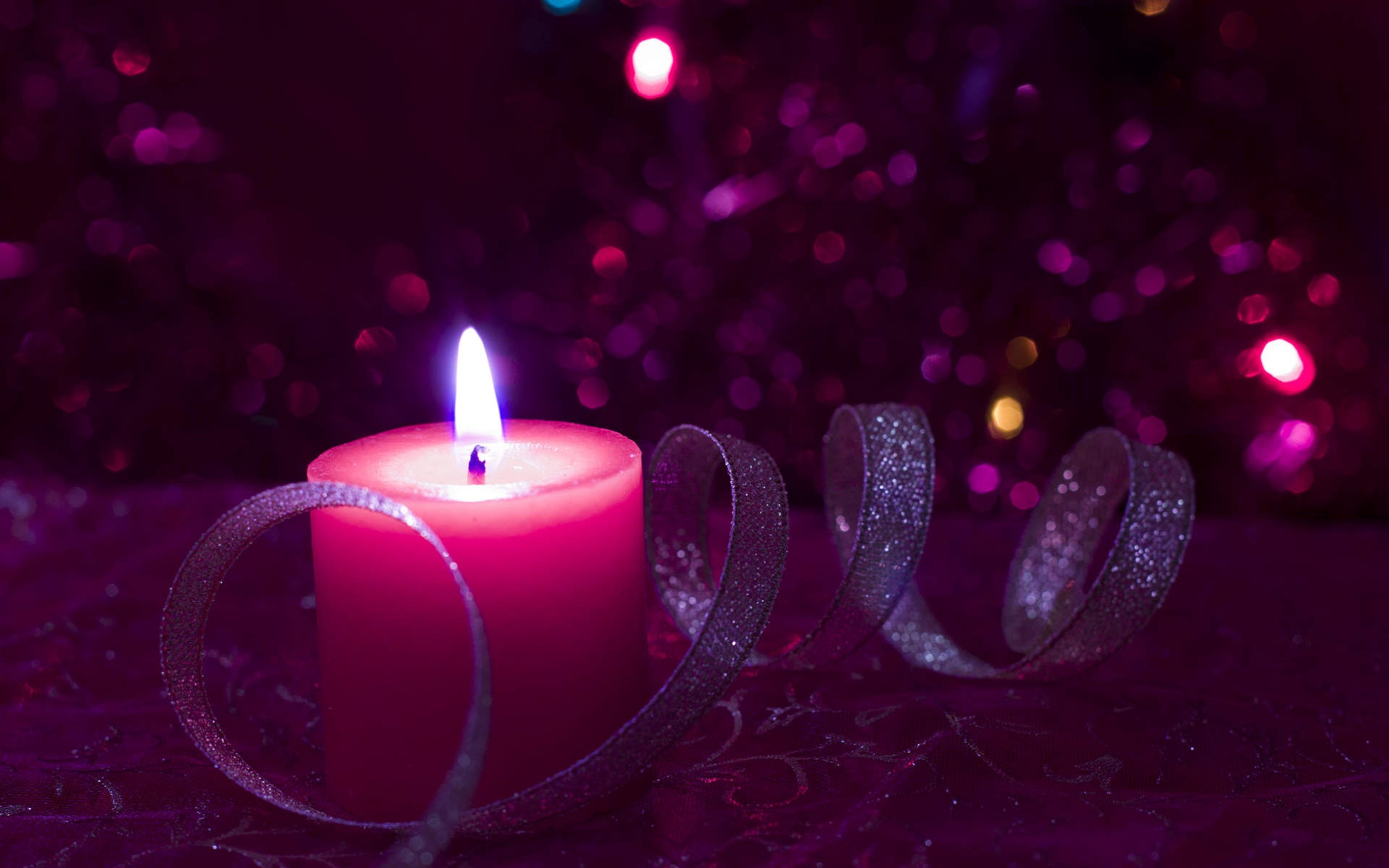 Back To 78 Light Wallpapers Hd - Pink Christmas Candles , HD Wallpaper & Backgrounds