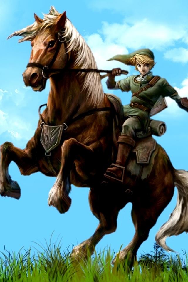 Legend Of Zelda Link Riding Horse , HD Wallpaper & Backgrounds