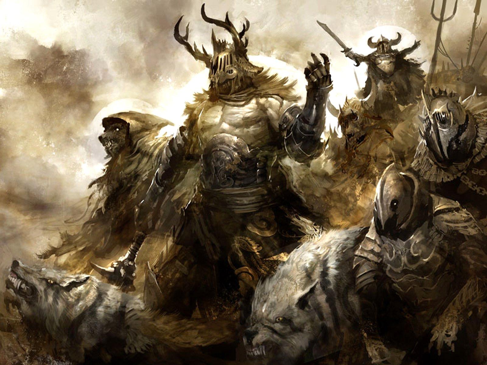 Dark Fantasy Warrior , HD Wallpaper & Backgrounds