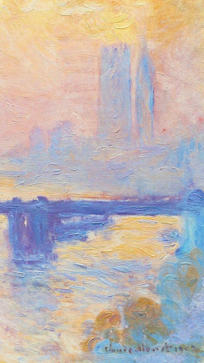 Monet Wallpaper, Painting Wallpaper, Iphone Wallpaper, - Charing Cross Bridge , HD Wallpaper & Backgrounds