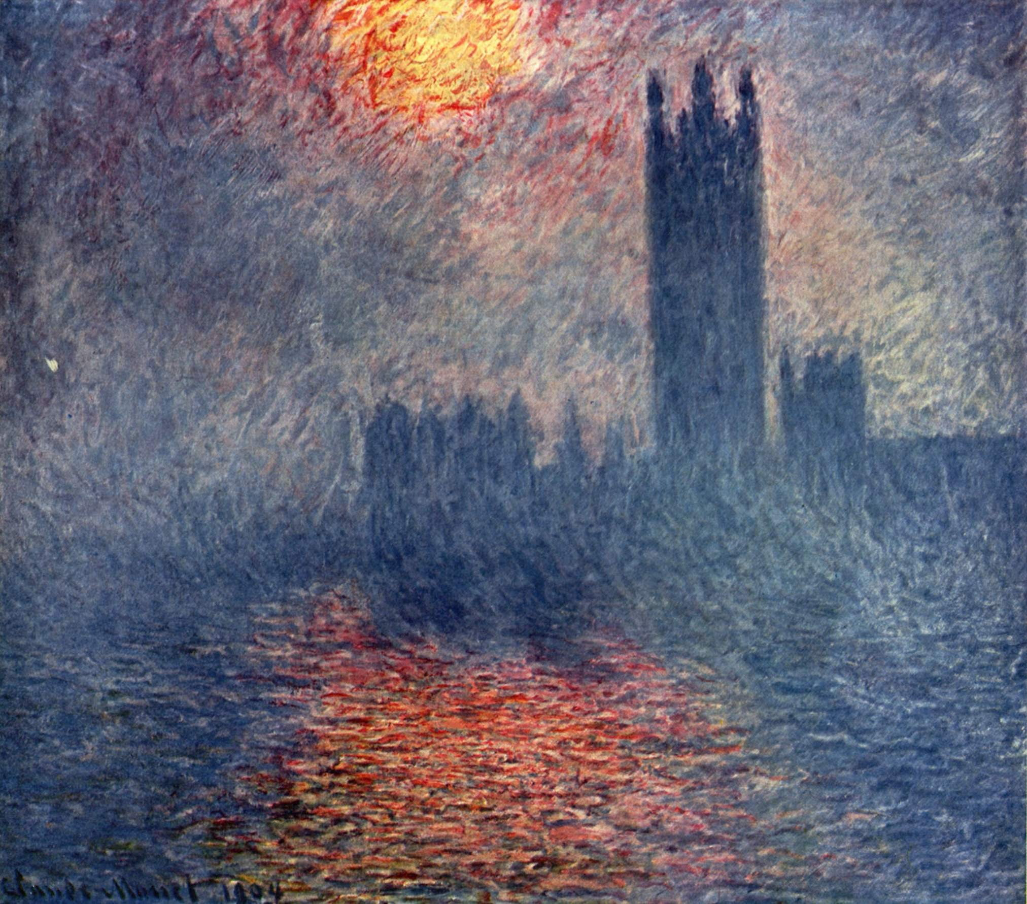 Untitled Claude Monet Painting Classic Art Sun Claude Monet