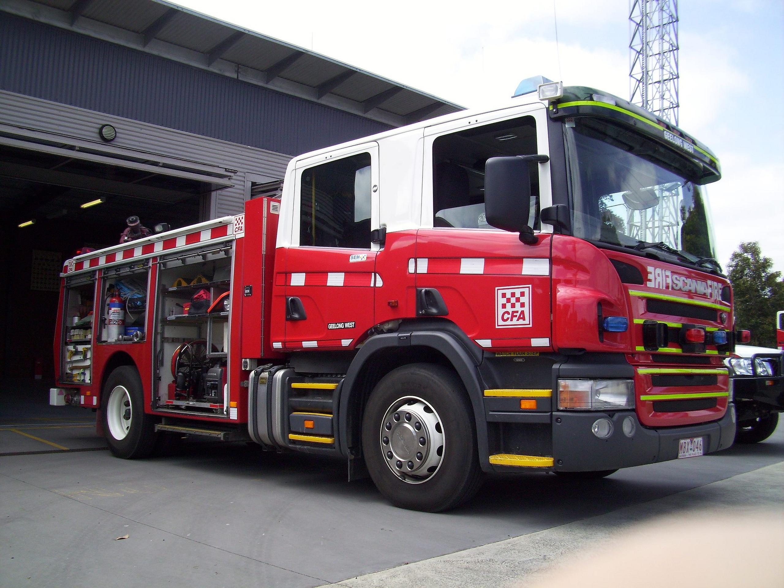 Scania Fire Truck Wallpaper Cfa Scania Fire Truck