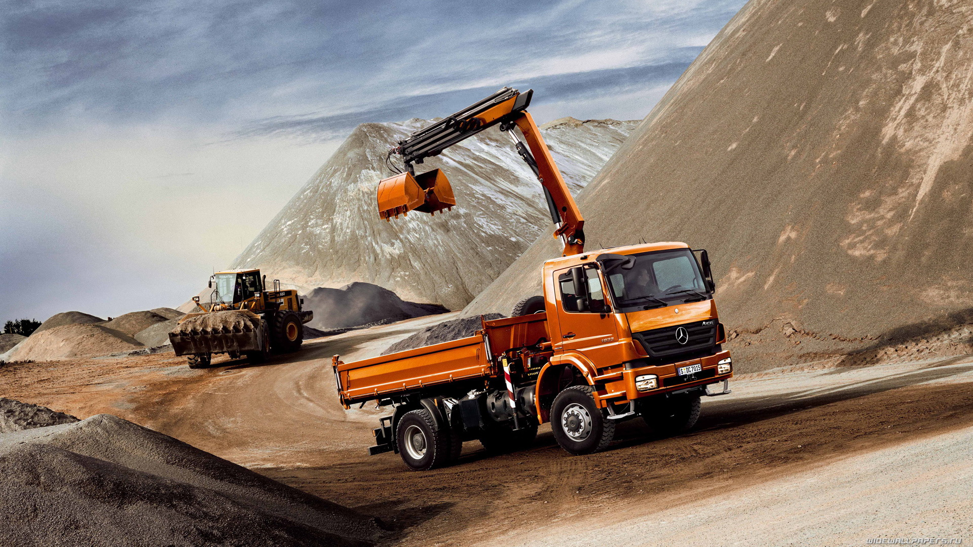 Back To 74 Free Big Truck Wallpapers Mercedes Excavator