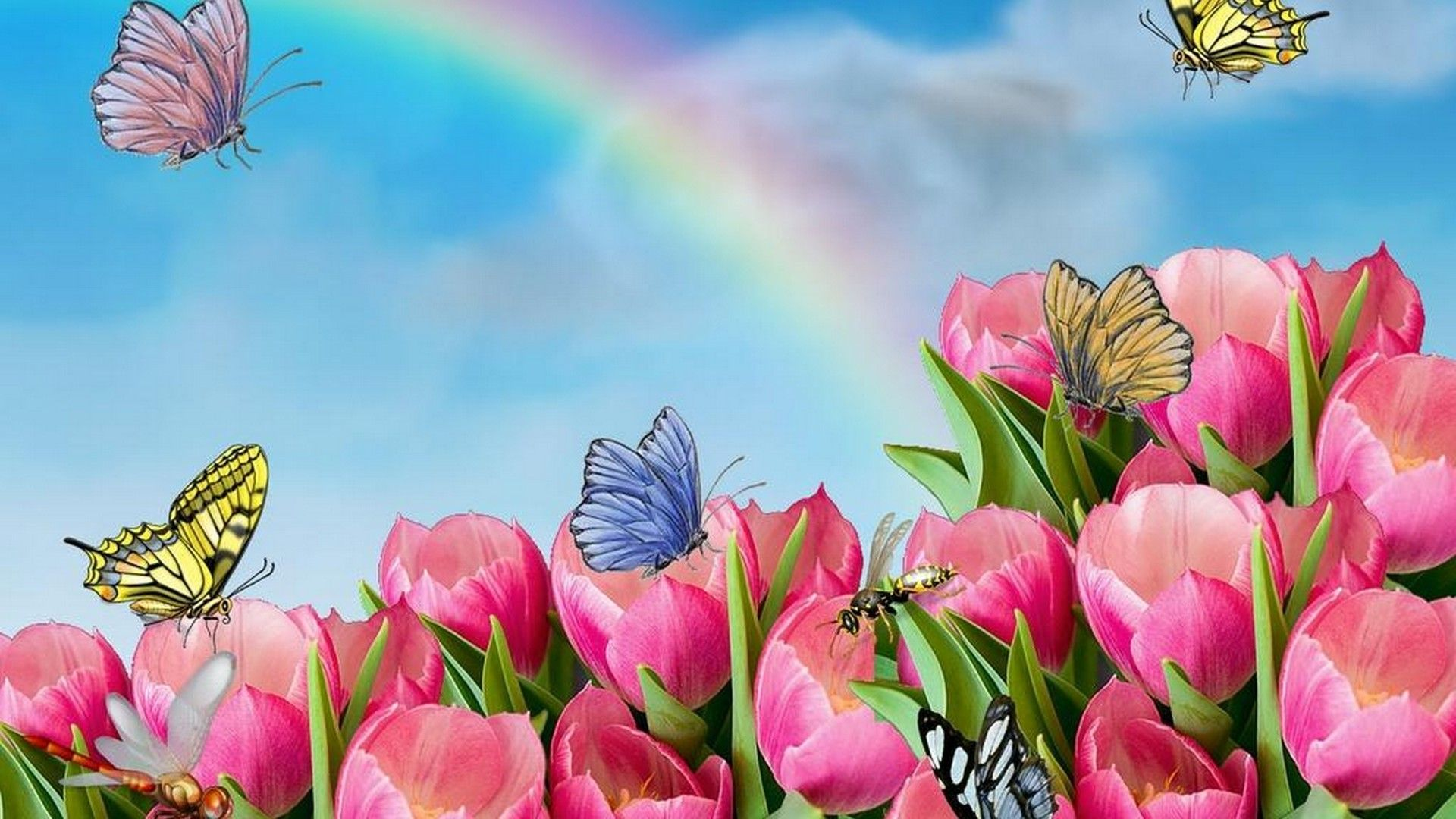 Animated Flower Wallpaper Dowload Fancy Images - Animated Images Of Flowers , HD Wallpaper & Backgrounds