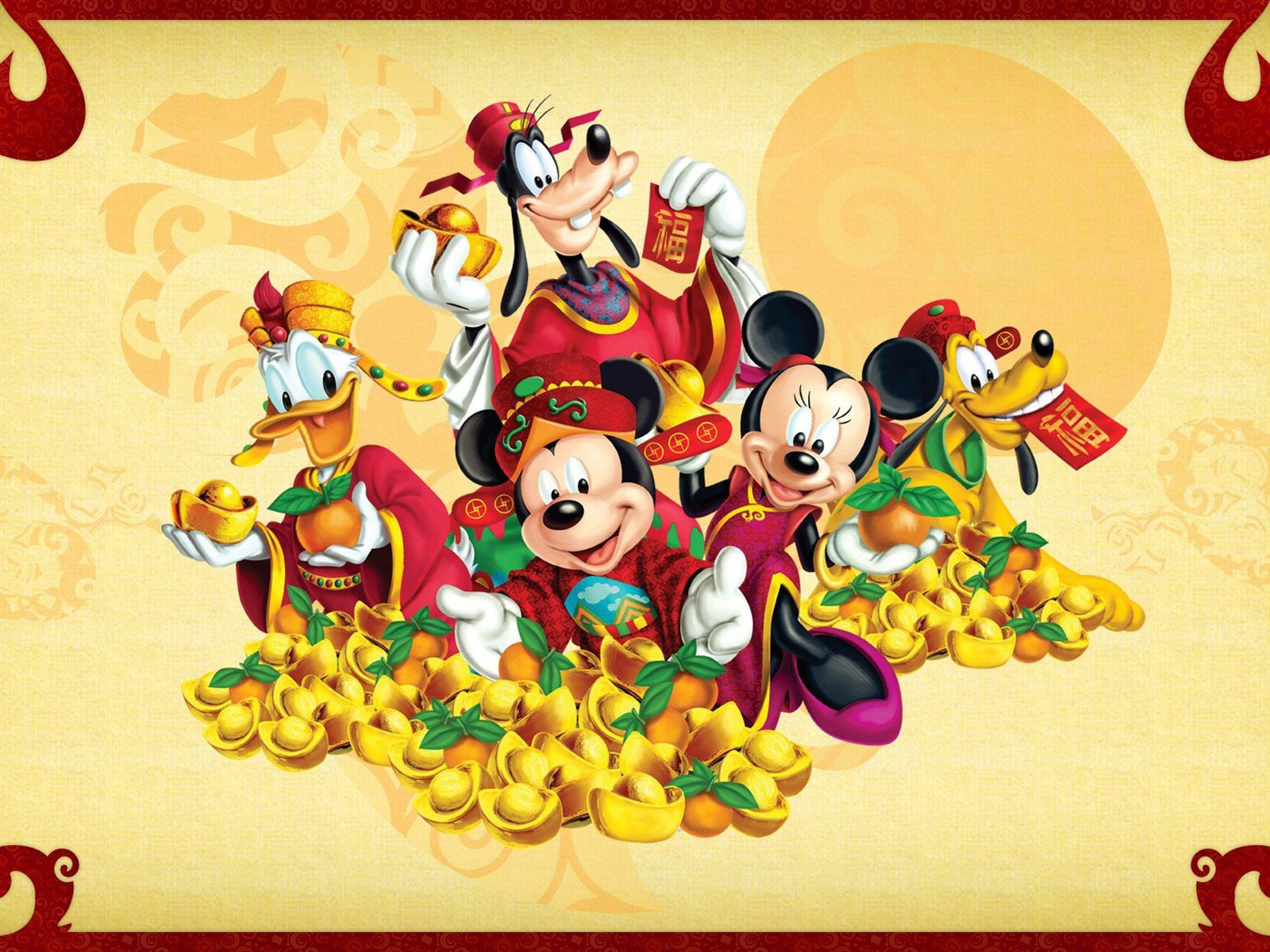 Disney Thanksgiving Wallpapers Mickey Mouse Chinese New Year 2110285 Hd Wallpaper Backgrounds Download