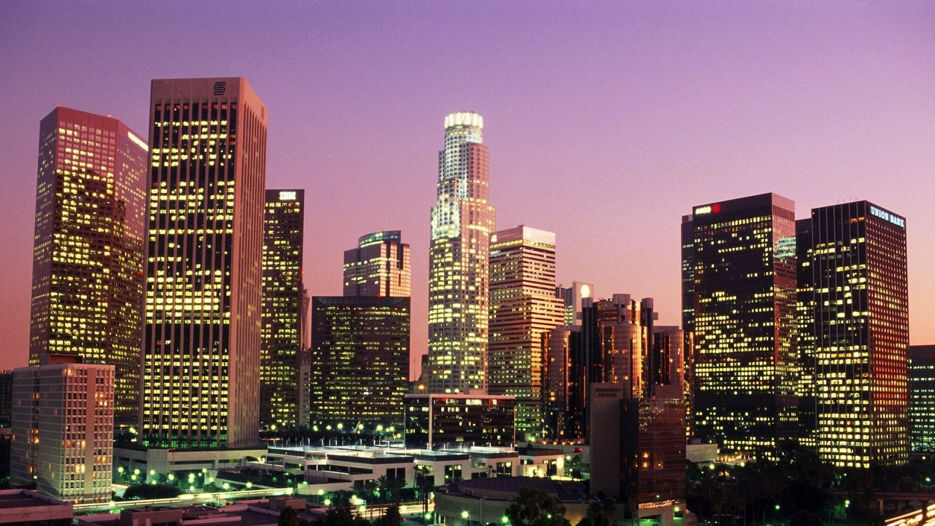Wallpaper Los Angeles California Usa City Lights Los