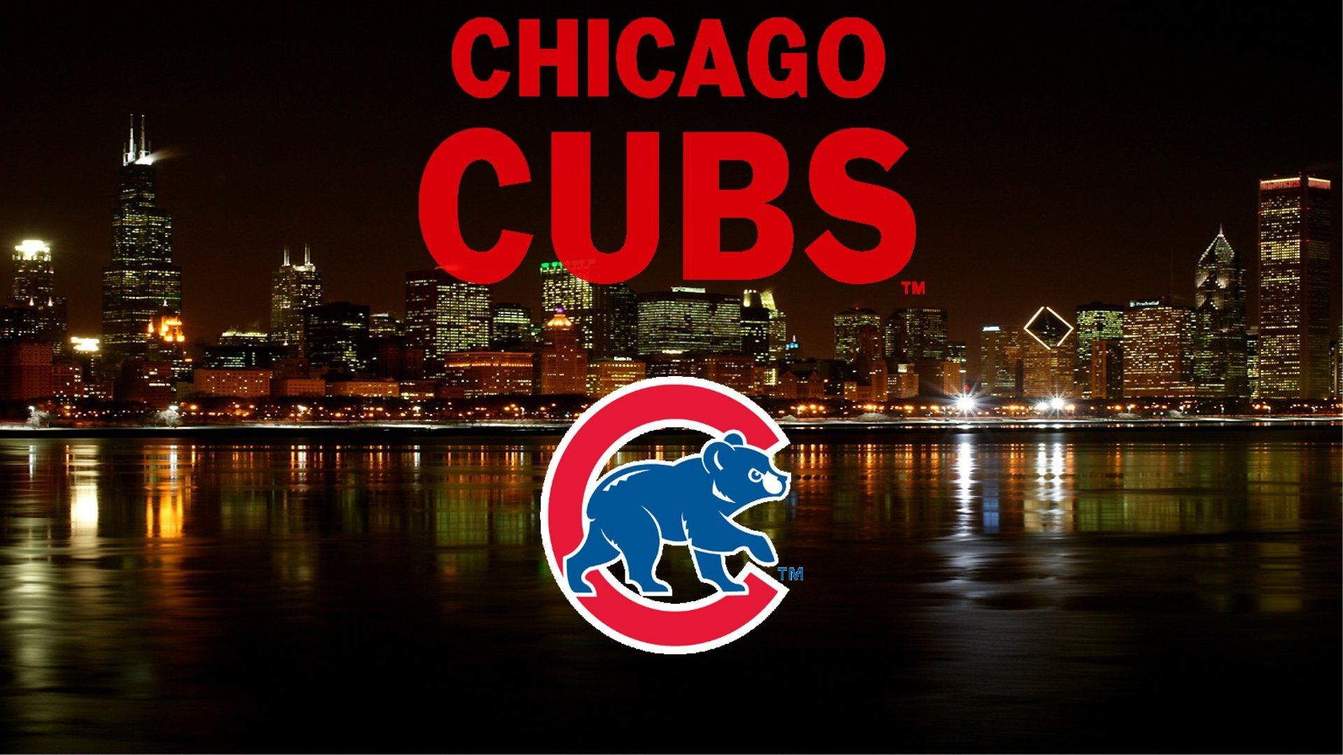 Chicago Cubs Logo City Wallpaper, Where You Can Download - Chicago Cubs Wallpaper 2016 , HD Wallpaper & Backgrounds