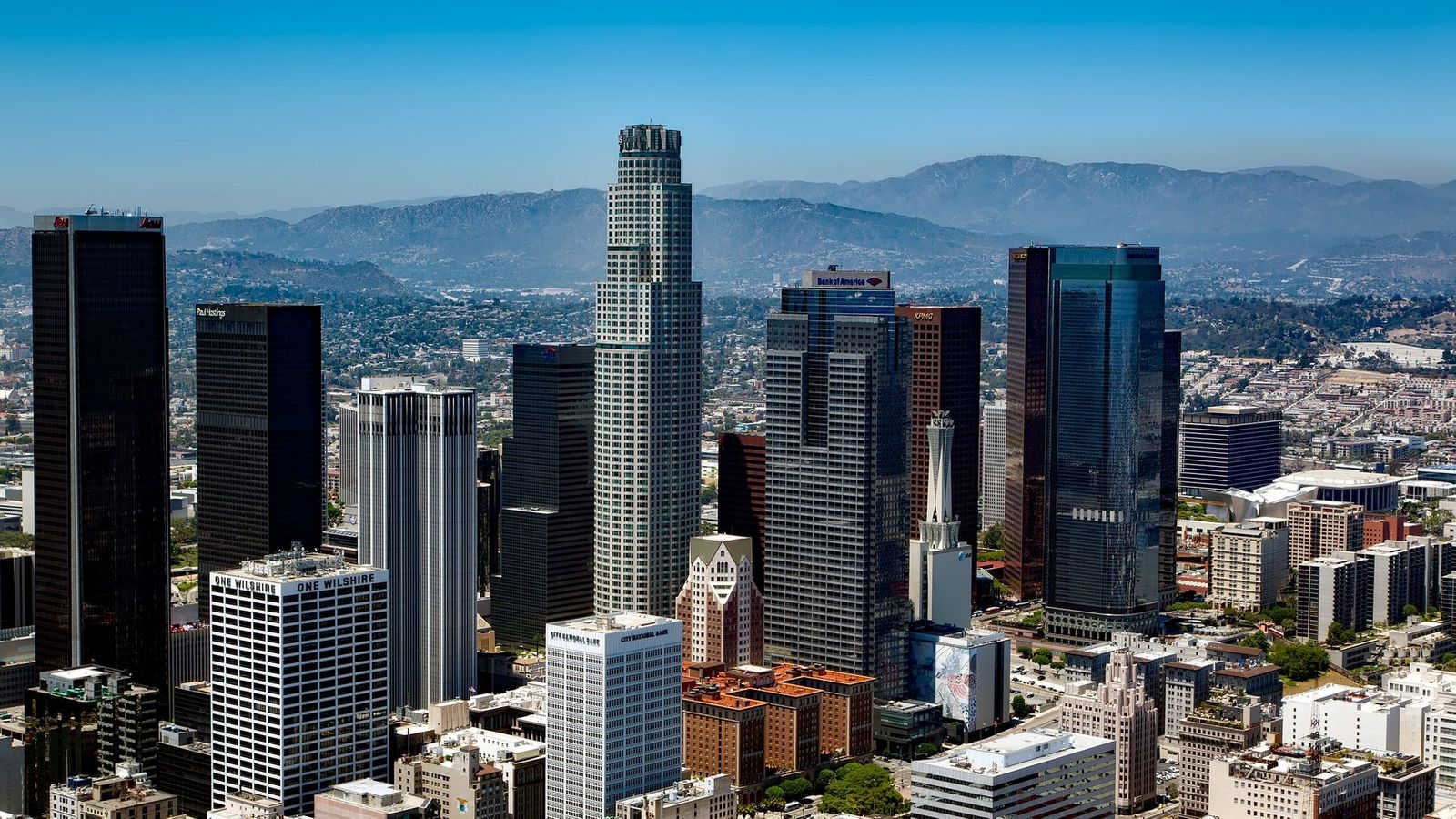 Awesome Los Angeles Skyline - Los Angeles , HD Wallpaper & Backgrounds