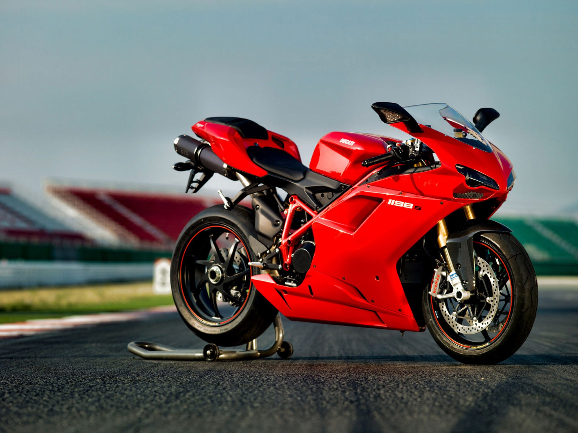 Red Ducati Motorcycle Picture Wallpaper 1198 Ducati