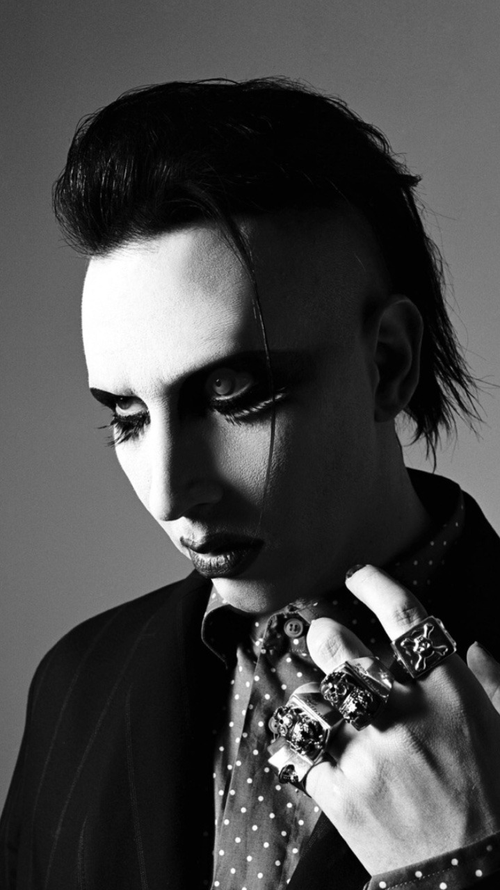 Lockscreen Club Marilyn Manson Black N White Iphone