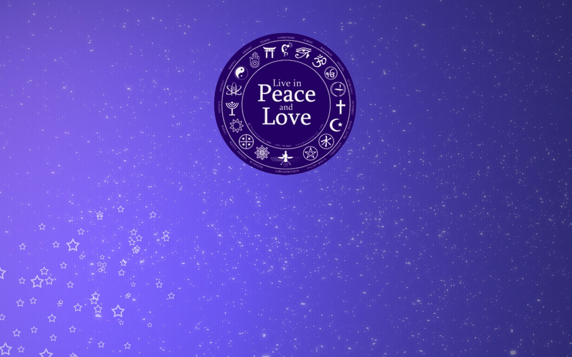 In Peace And Love Hd Wallpaper - Circle , HD Wallpaper & Backgrounds