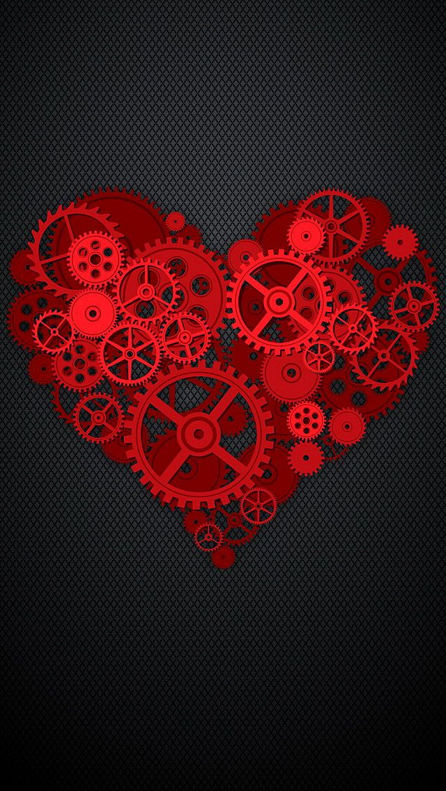 Download Love 640 X 1136 Wallpapers Red Heart Wallpaper