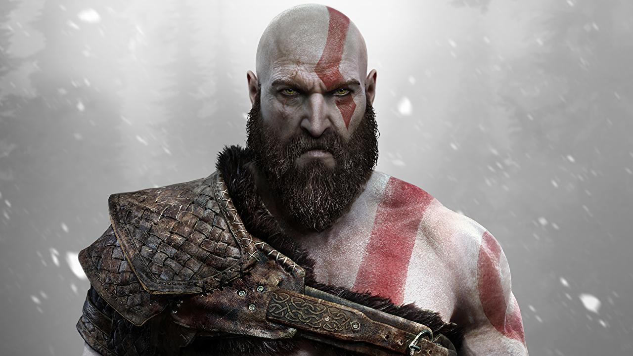 Photo Man God Of War Bearded Ps4 Kratos Fantasy God Of War