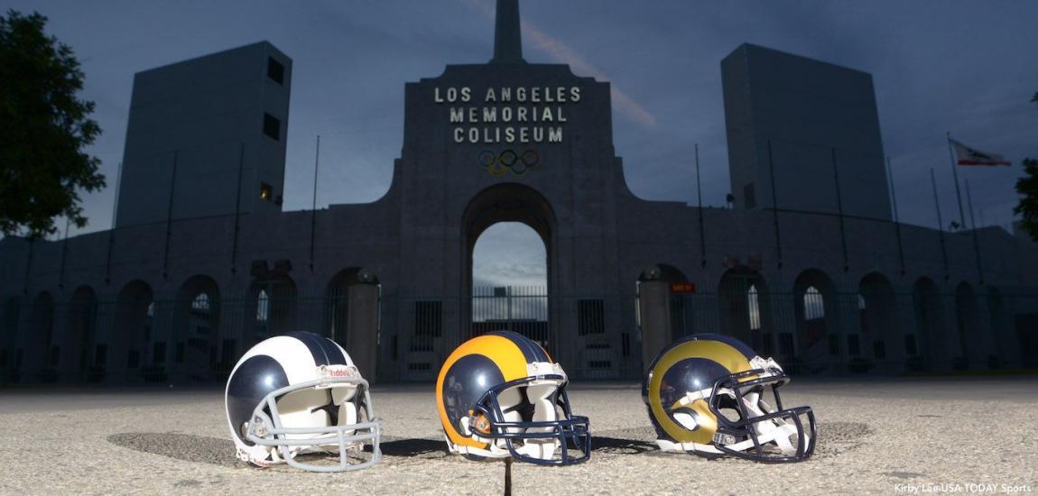 Rams Wallpaper Within Los Angeles Rams Wallpaper Source - Los Angeles Memorial Coliseum , HD Wallpaper & Backgrounds