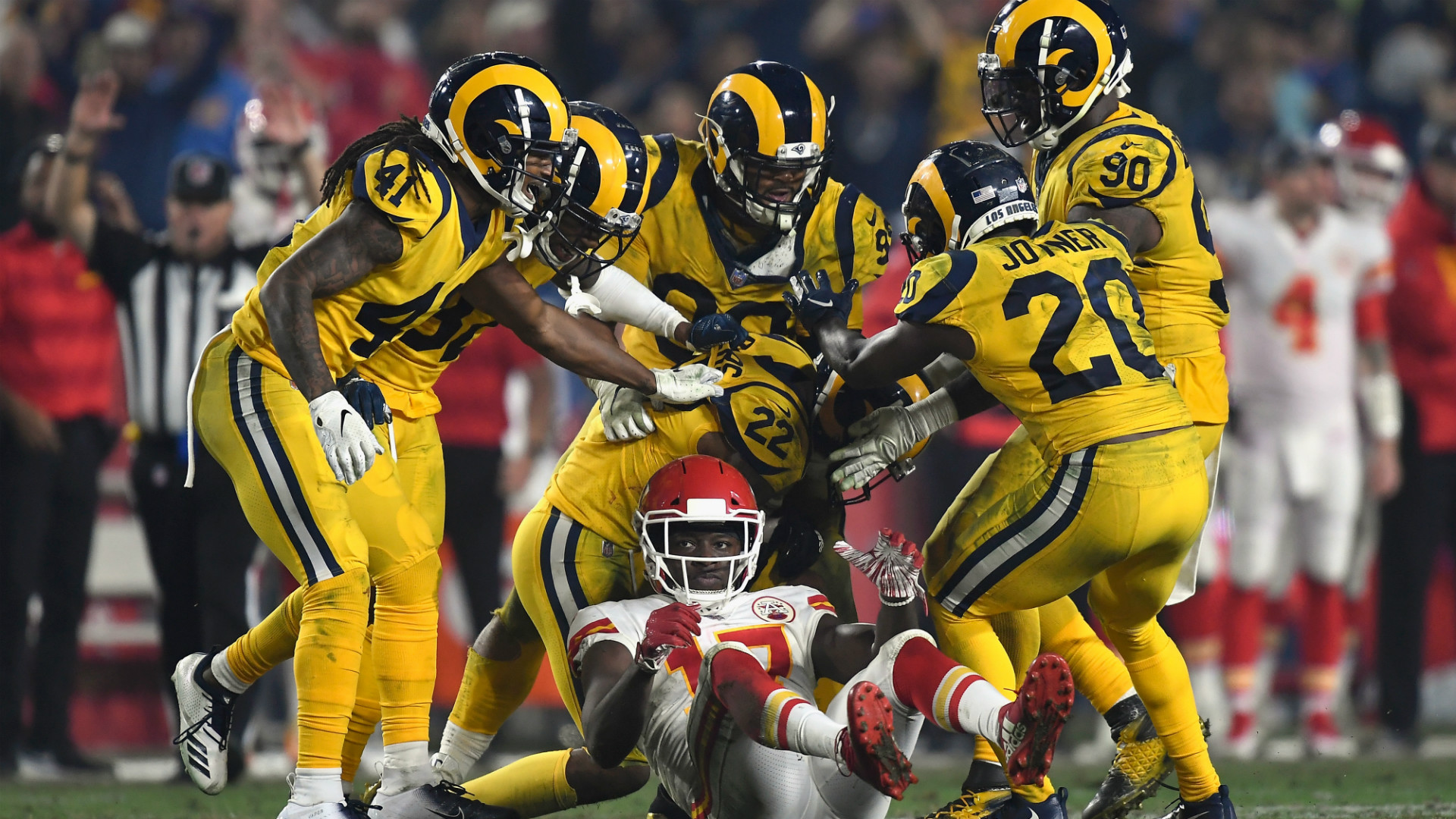 Rams-chiefs Result Monday Night Sends Ripples Beyond - Happy Thanksgiving La Rams , HD Wallpaper & Backgrounds