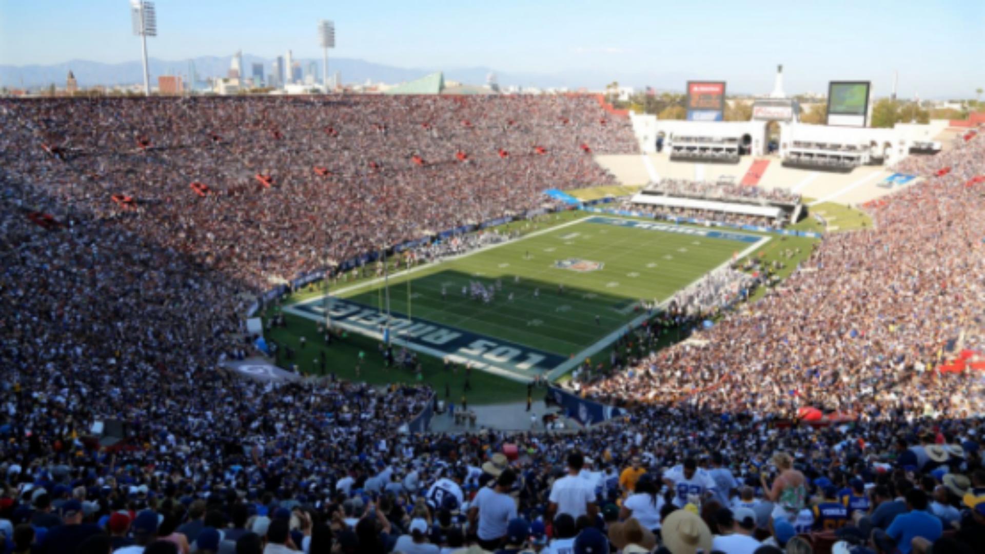 Rams Stadium Hd Wallpaper - La Rams Los Angeles Coliseum , HD Wallpaper & Backgrounds