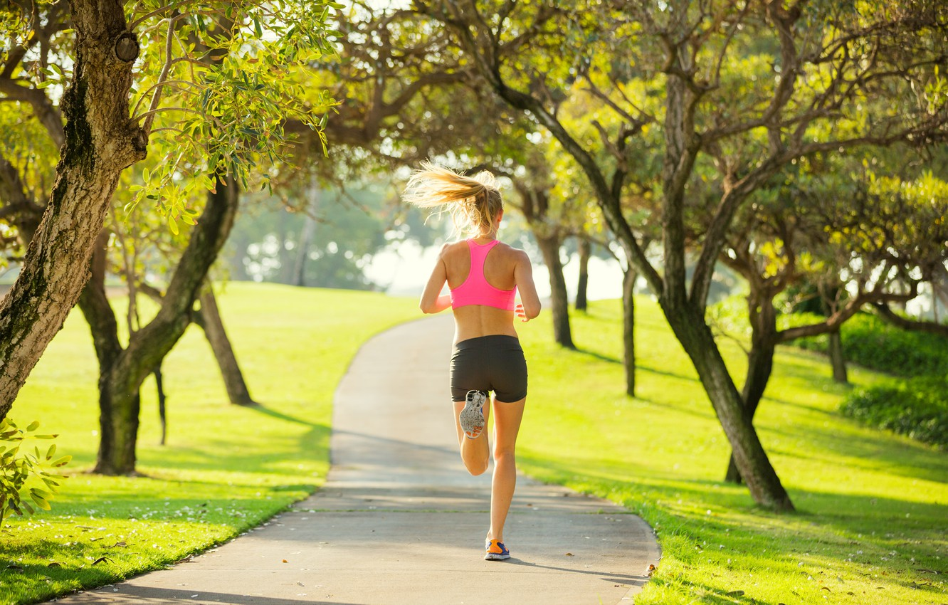 Photo Wallpaper Woman, Park, Workout, Running, Jogging - Woman ...