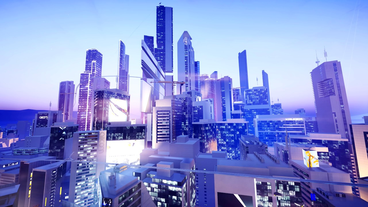 Futuristic City Ambience Mirror S Edge Catalyst Wallpaper City
