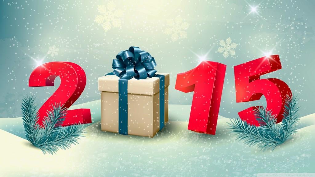 Happy New Year 2015 Winter Gifts Hd Wallpaper , HD Wallpaper & Backgrounds
