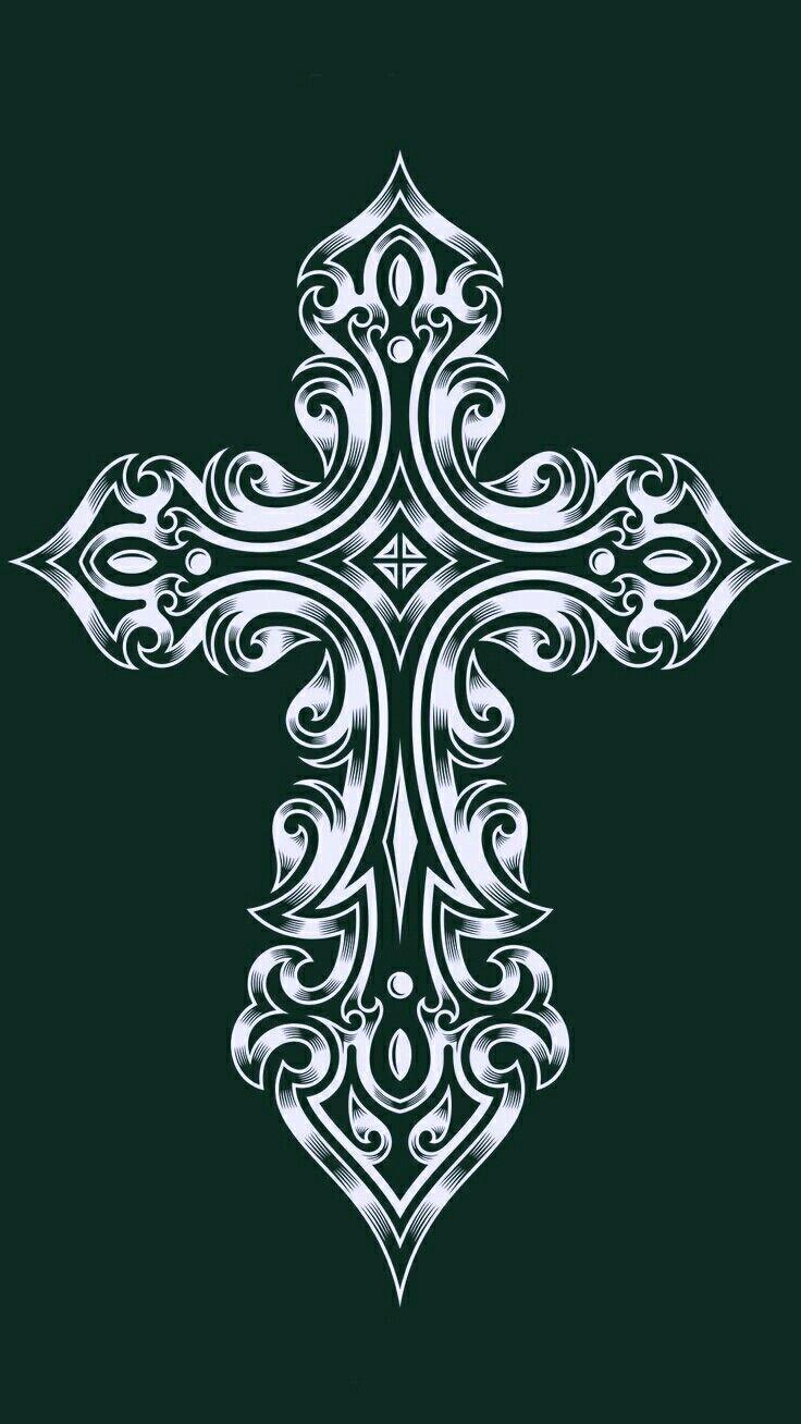 Cross - Cross Designs Black Background , HD Wallpaper & Backgrounds