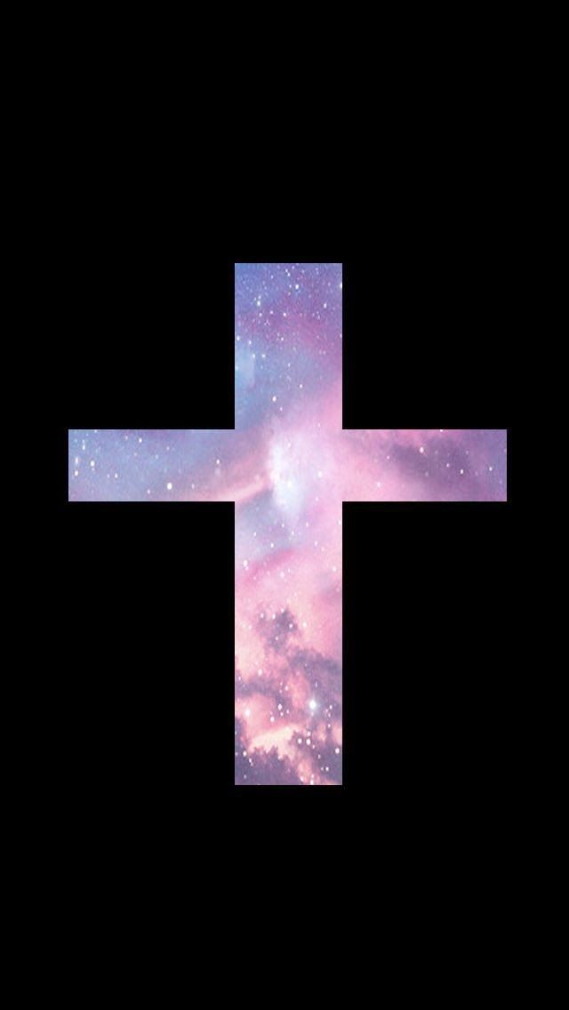 Iphone Wallpaper Cross Sign - Galaxy Cross Phone Background , HD Wallpaper & Backgrounds