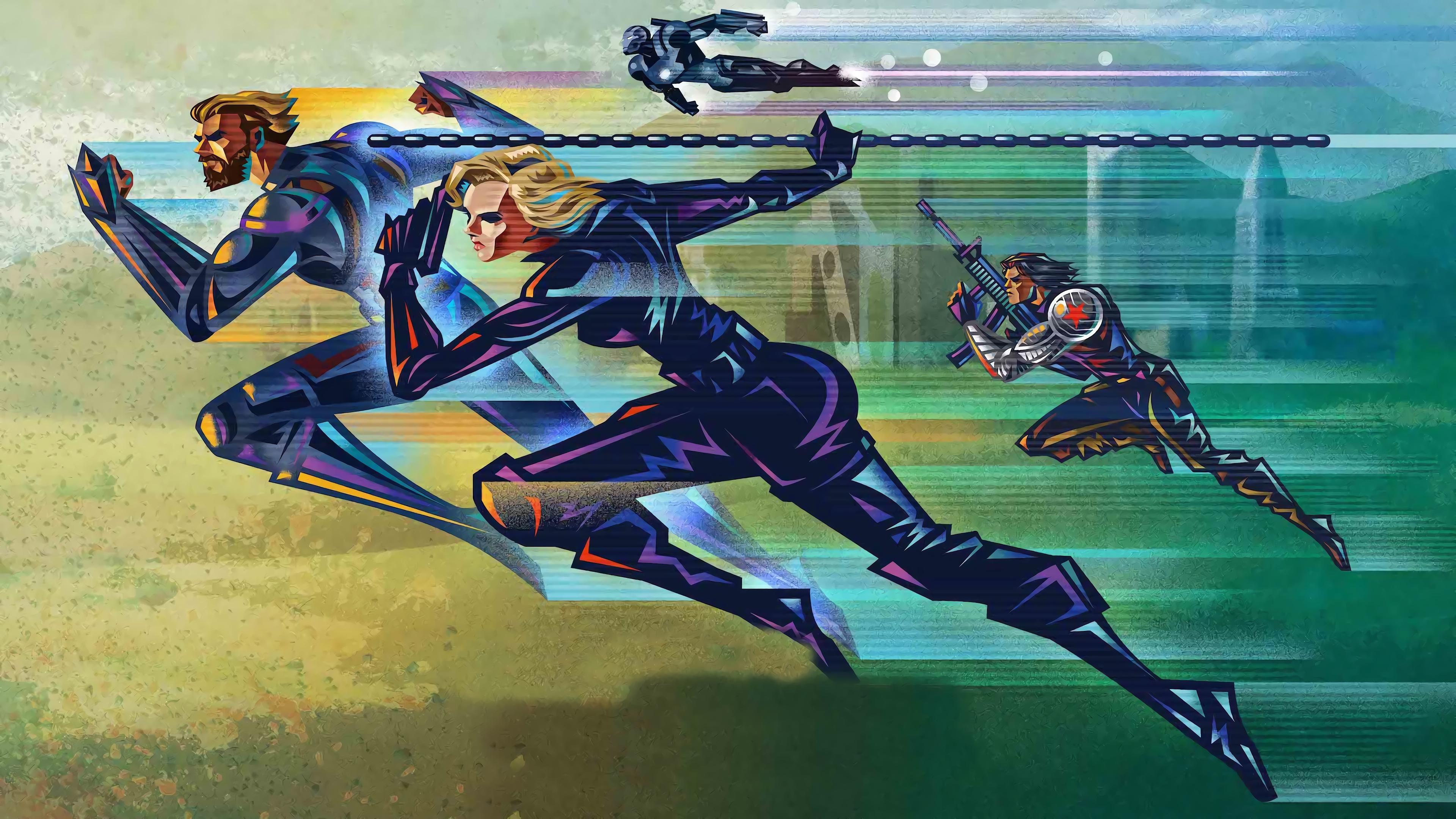 Infinity War Captain America Black Widow Winter Soldier