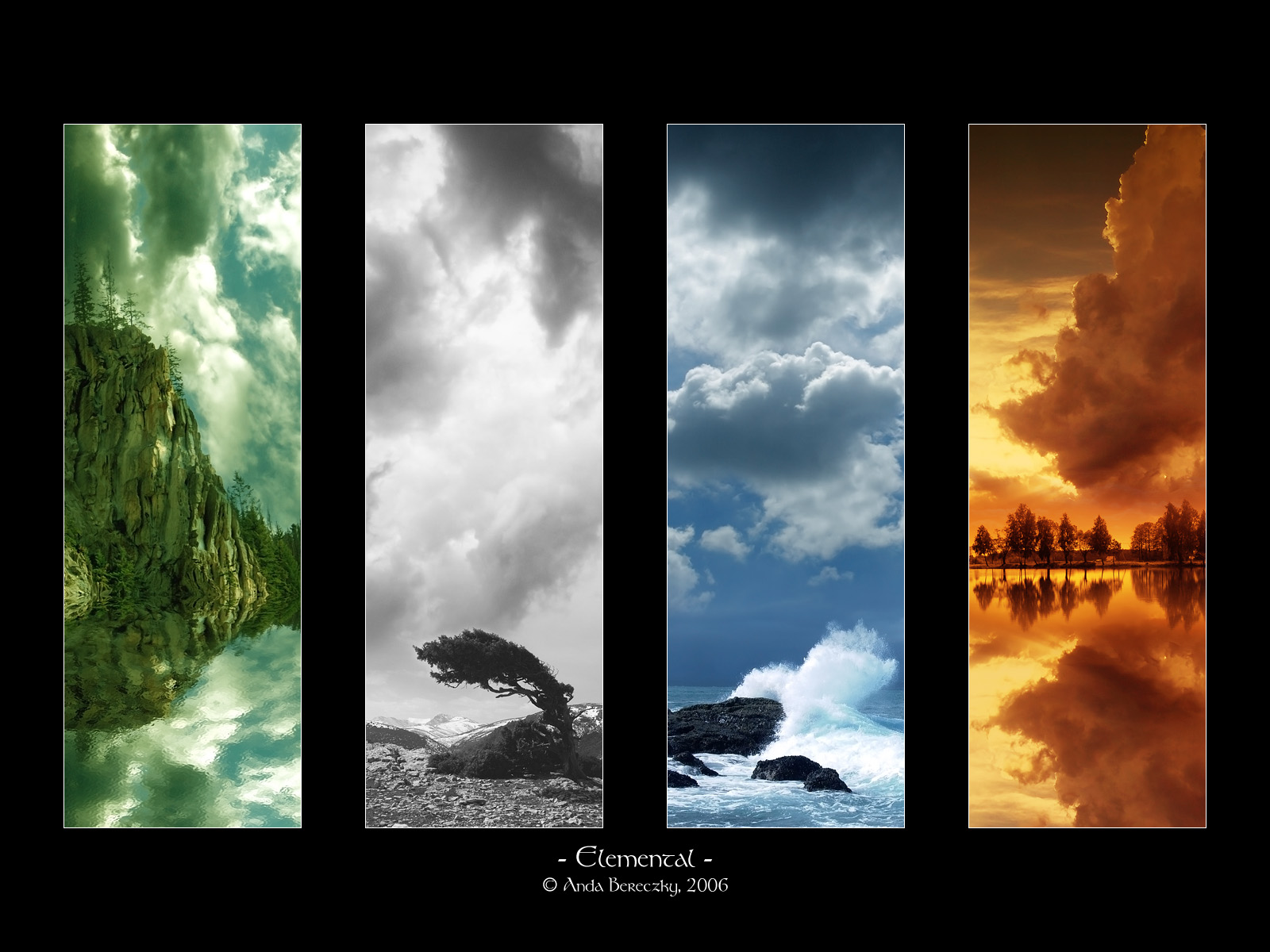 Season Wallpaper Elements Image Fire Water Air And Earth