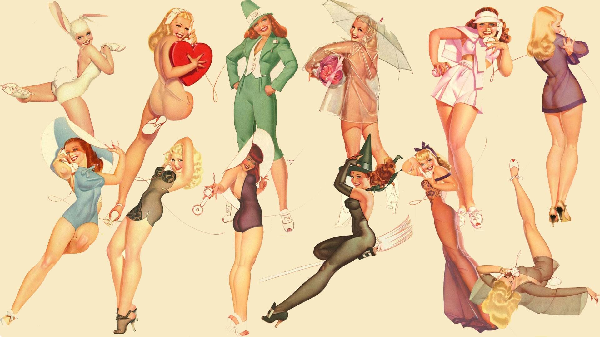 Hd Wallpaper Pinup Girls 2164265 Hd Wallpaper Backgrounds