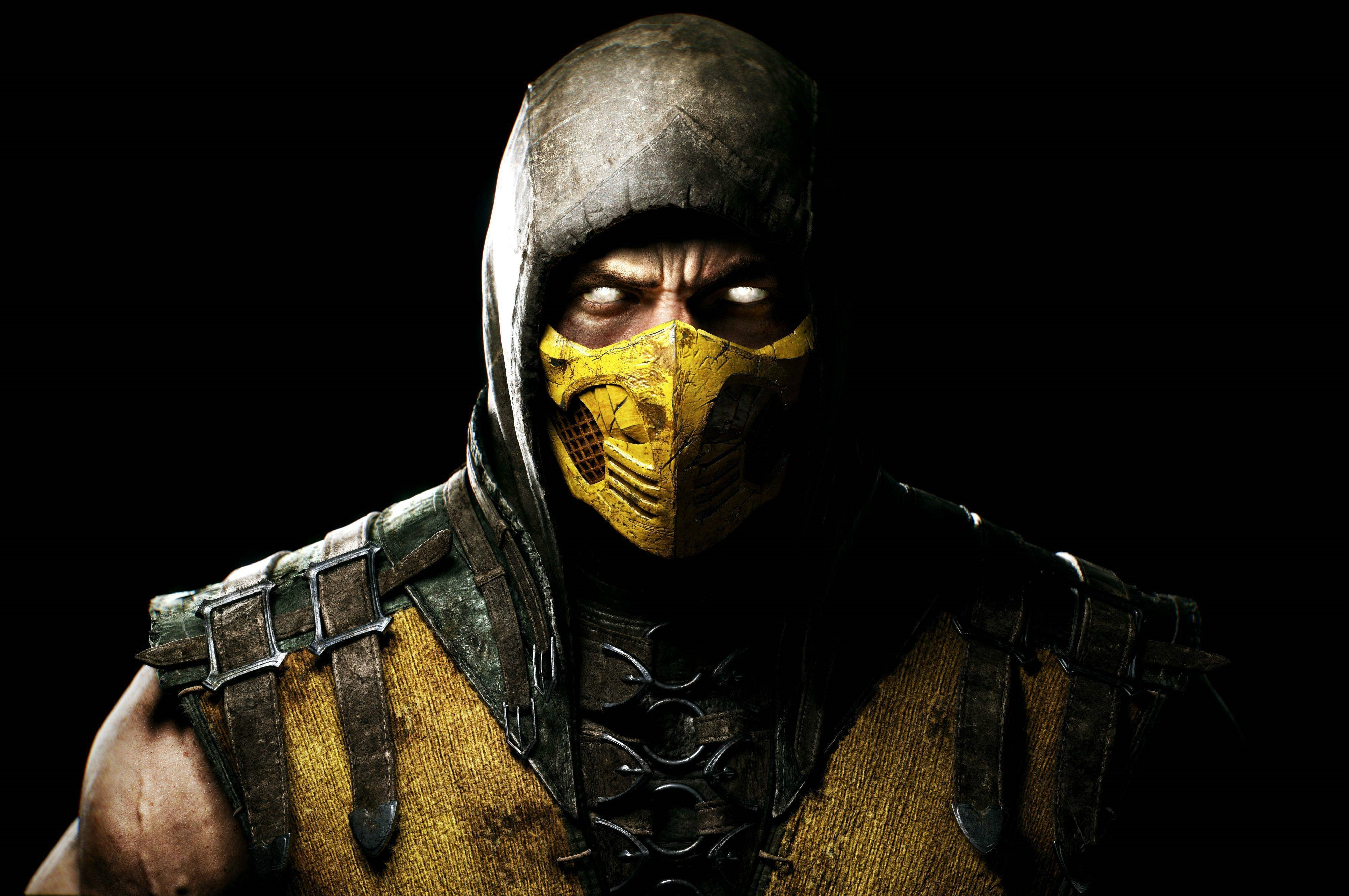 Mortal Kombat X Scorpio Ninja Mask Wallpaper And