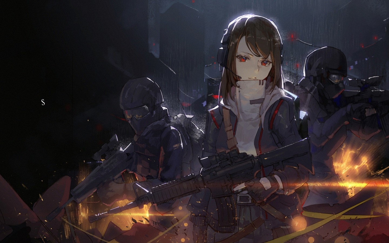Cytus 2 Rythm Video Game Anime Girl Artwork Raining Cytus 2 Bullet Waiting For Me Hd Wallpaper Backgrounds Download
