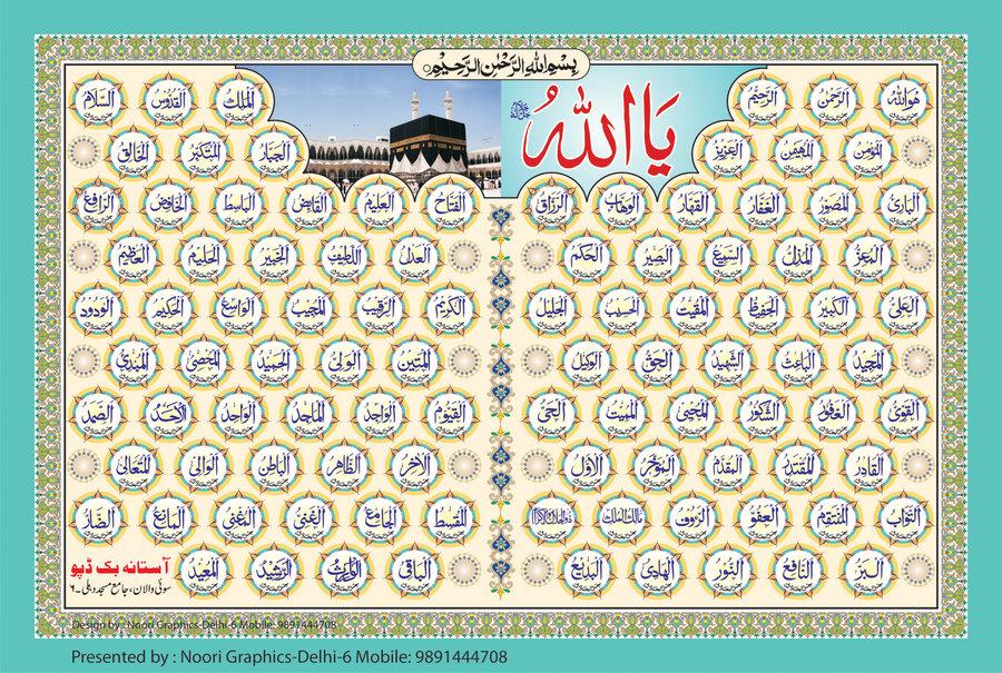 Allah Ke Naam Ke Wallpaper 99 Name Of Allah In Urdu 2171709 Hd Wallpaper Backgrounds Download