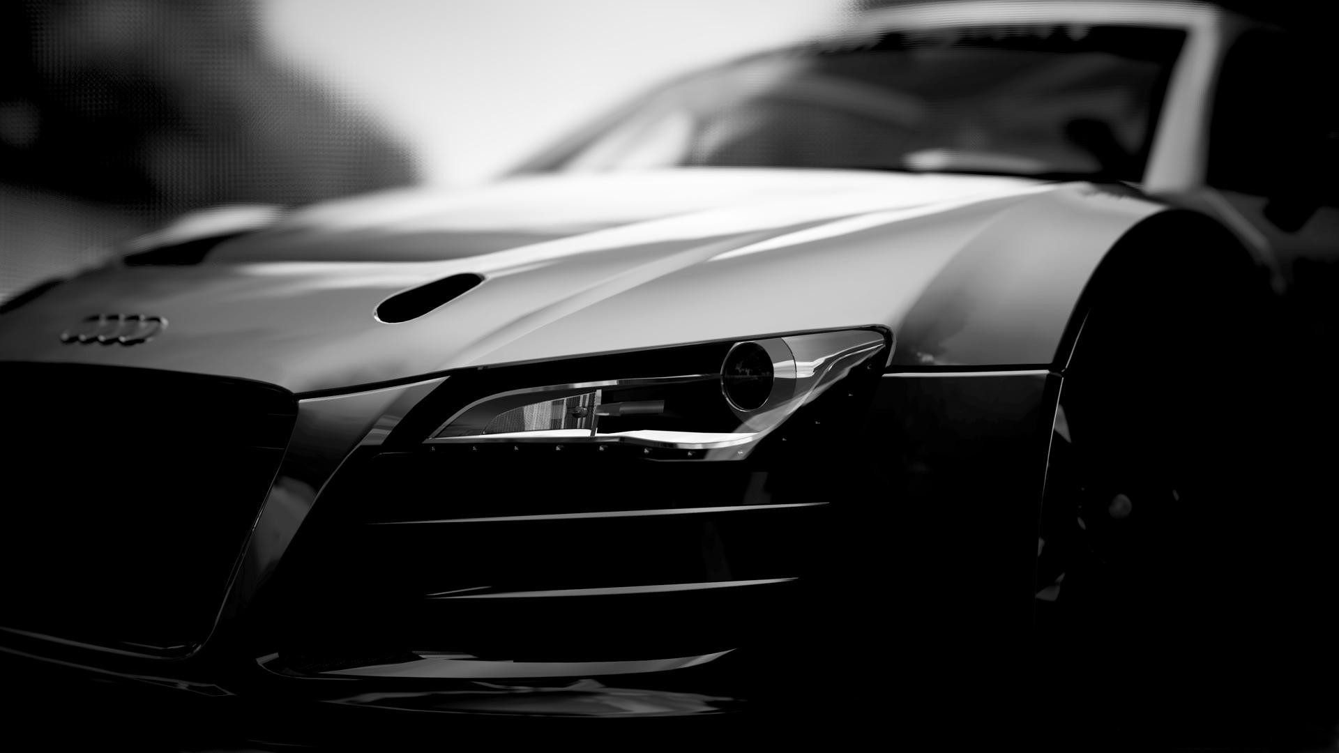 Audi R8 1080p Wallpapers Audi R8 Black And White 2174102 Hd Wallpaper Backgrounds Download