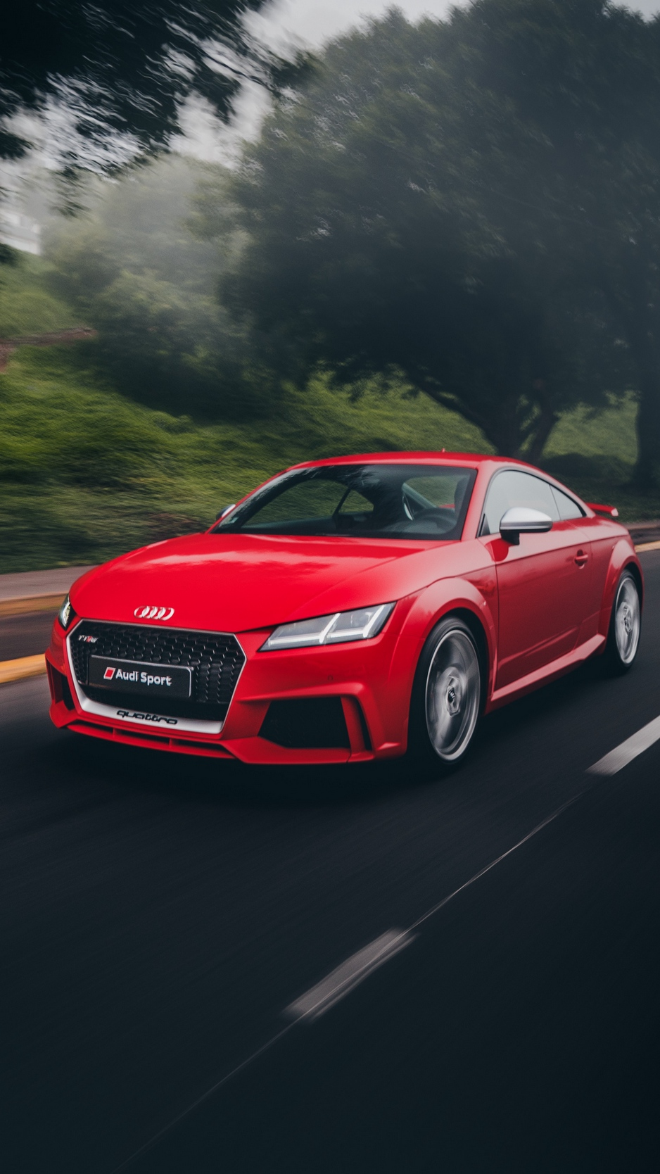 Wallpaper Audi Tt, Audi, Sports Car, Road, Movement - Audi Tt Wallpaper Iphone , HD Wallpaper & Backgrounds