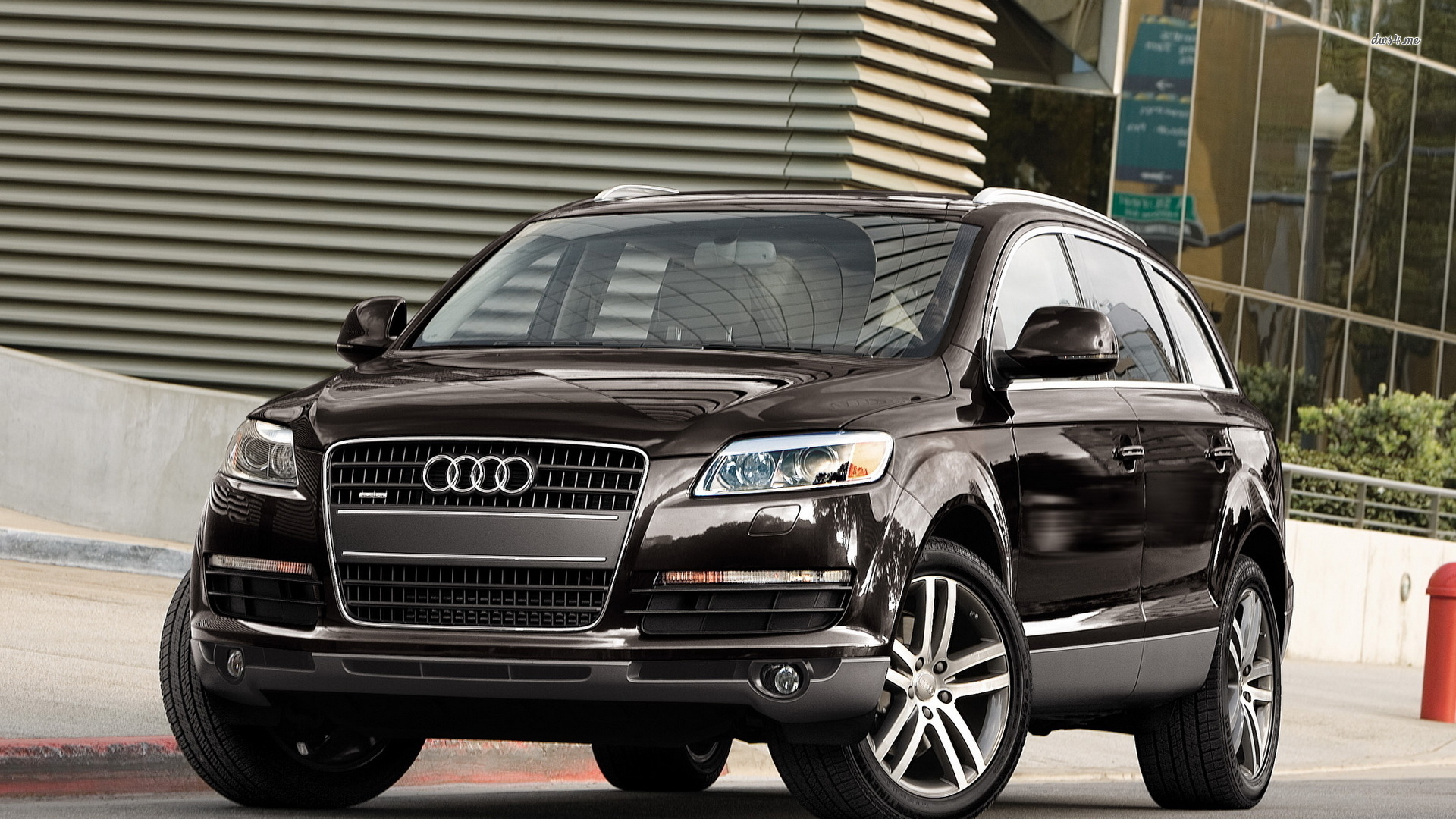 Front View Of A Black Audi Q7 Wallpaper Audi Q7 2006