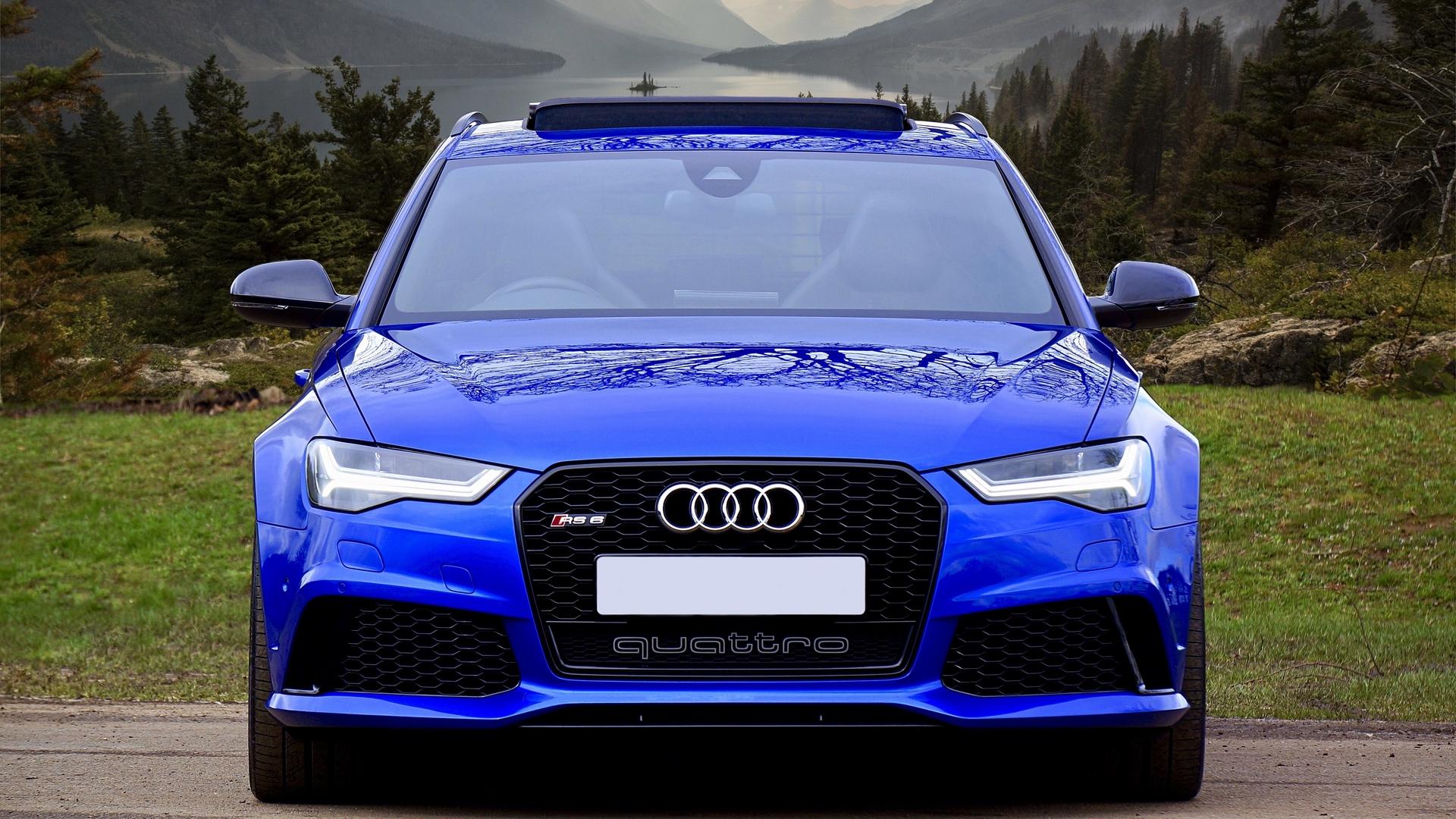 Wallpaper Audi Rs6 Audi Car Blue Front View 2175592