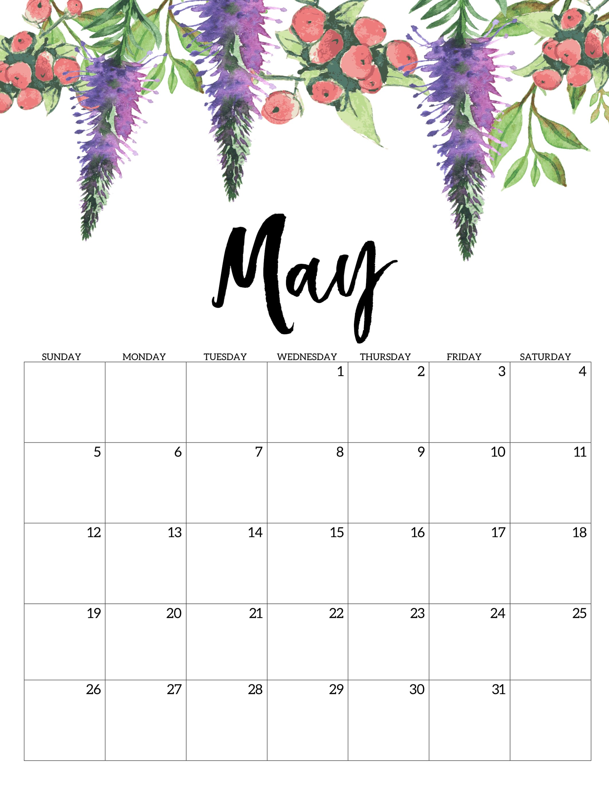 This Is Our Collection Of May Calendar 2019 Wallpaper - May 2019 Calendar Floral , HD Wallpaper & Backgrounds