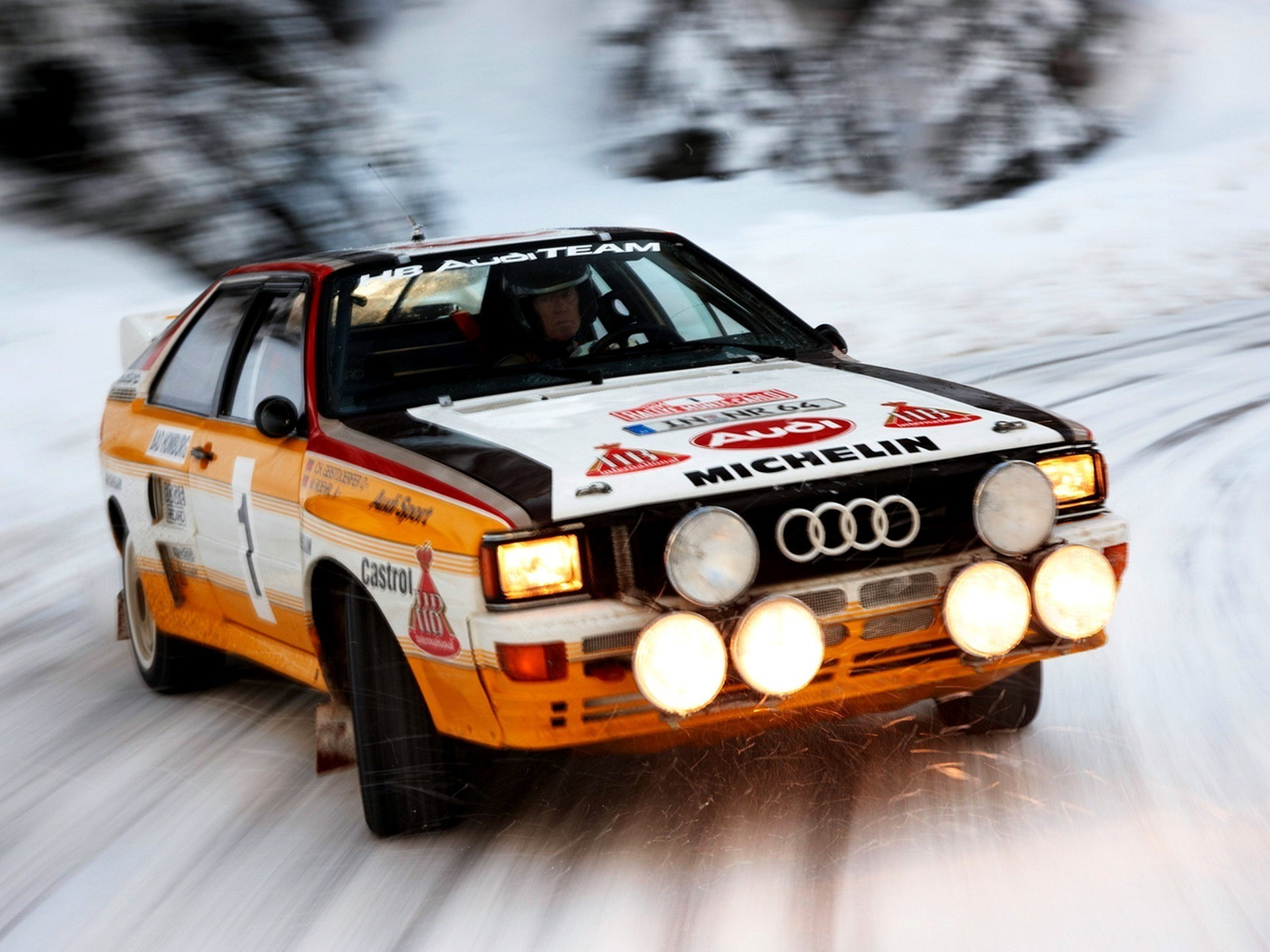 Audi Audi Quattro Car Rally Cars Sports Car Old Car - Old Audi Rally Car , HD Wallpaper & Backgrounds