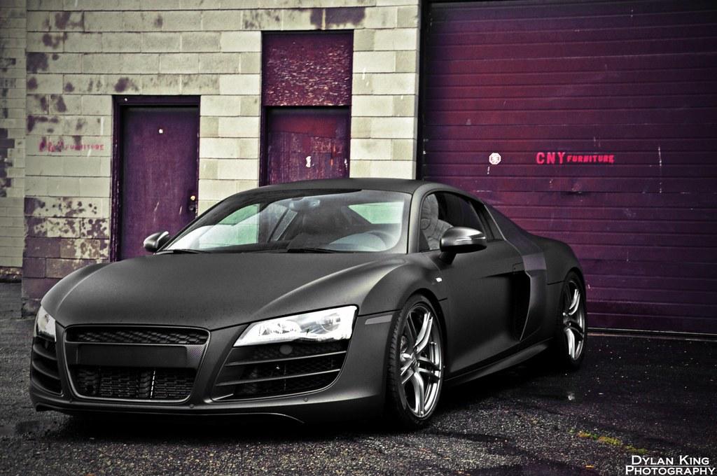 Audi R8 Black Matte Hd Wallpaper Audi R8 Matte Black 2177703 Hd Wallpaper Backgrounds Download