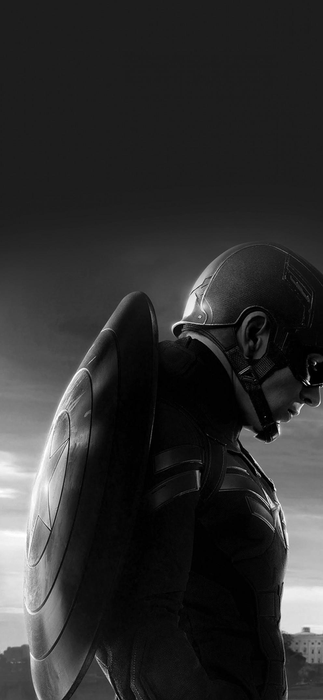 Captain America Vector Art Bw - Captain America Dark Wallpaper Hd , HD Wallpaper & Backgrounds