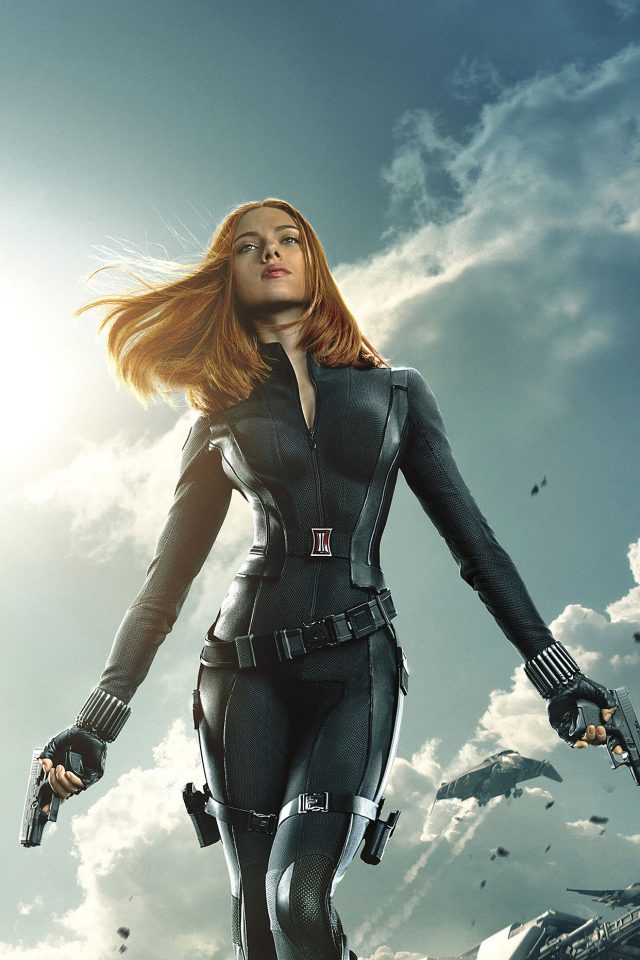 Captain America Black Widow Film Face Iphone Wallpaper