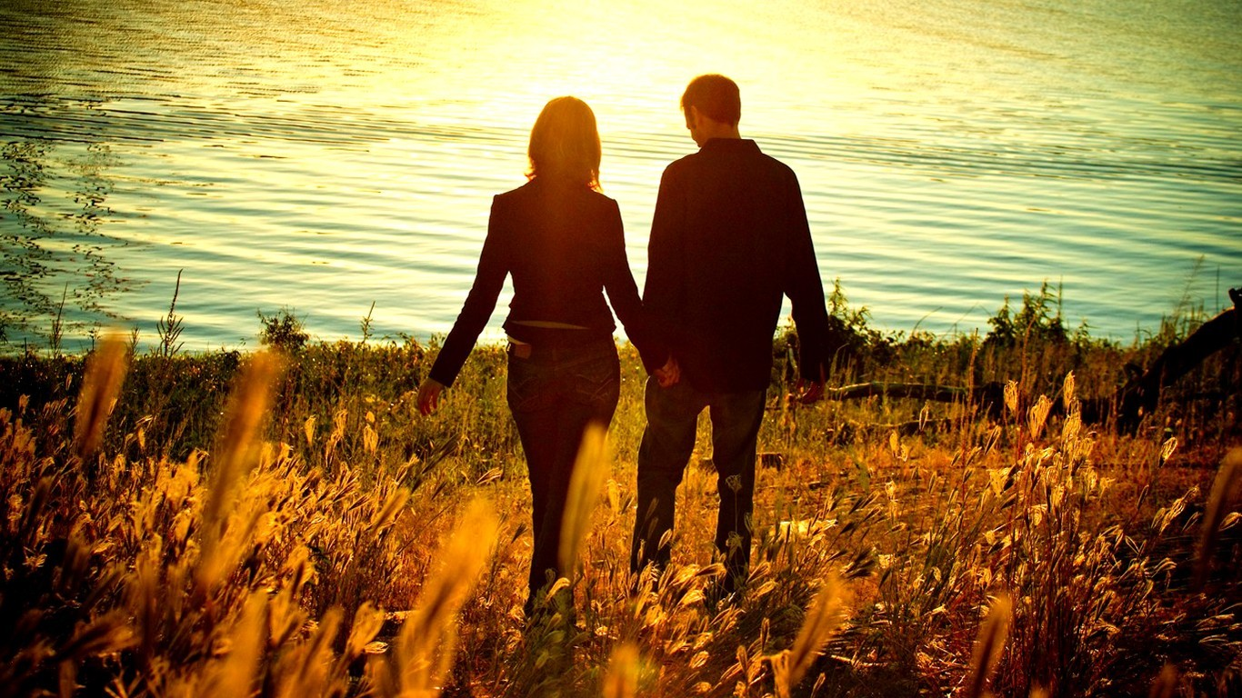 Love Couple Hd Wallpaper - Girl And Boy Profile , HD Wallpaper & Backgrounds