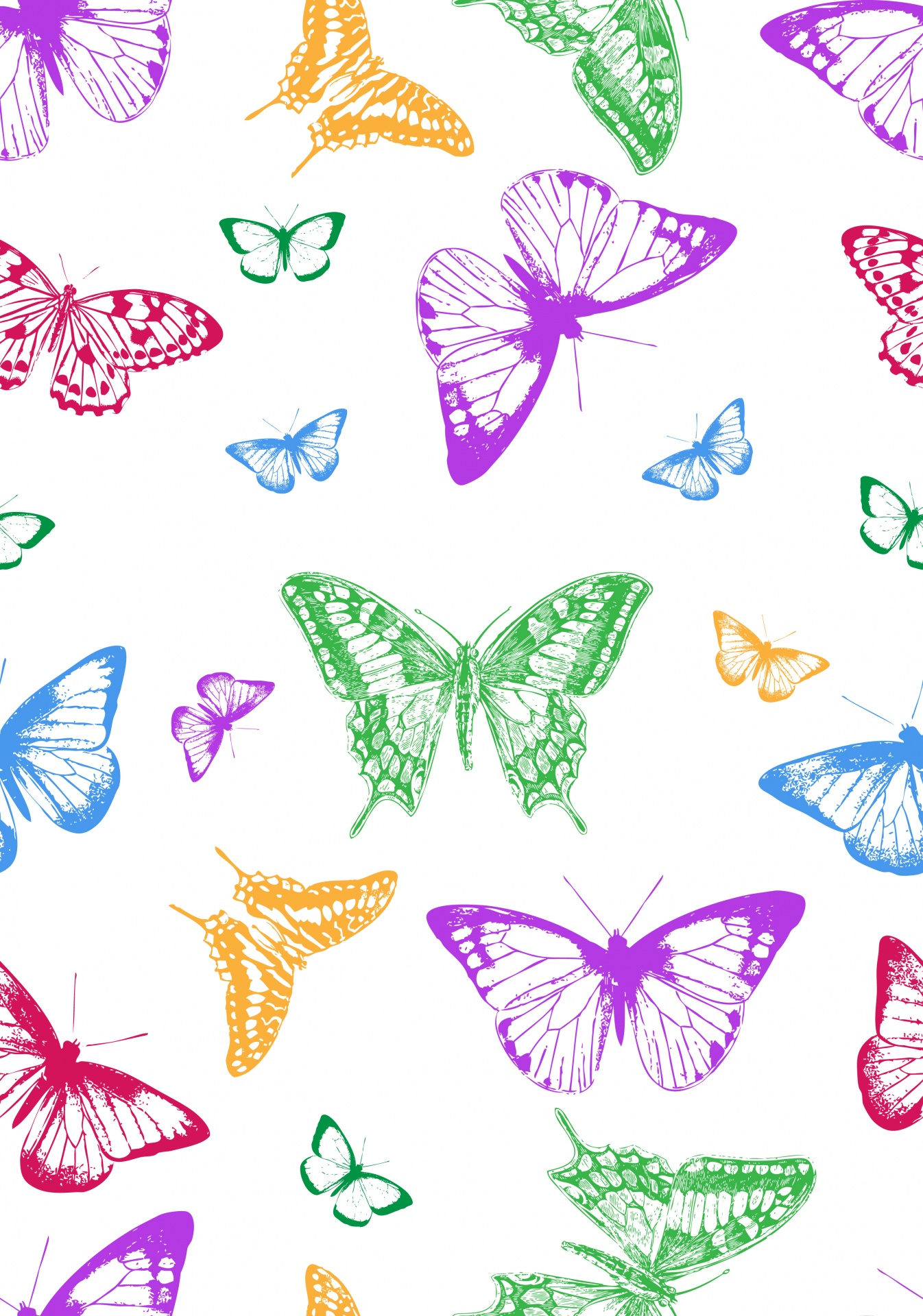 Butterflies Butterfly Wallpaper Free Picture - Green Butterfly , HD Wallpaper & Backgrounds